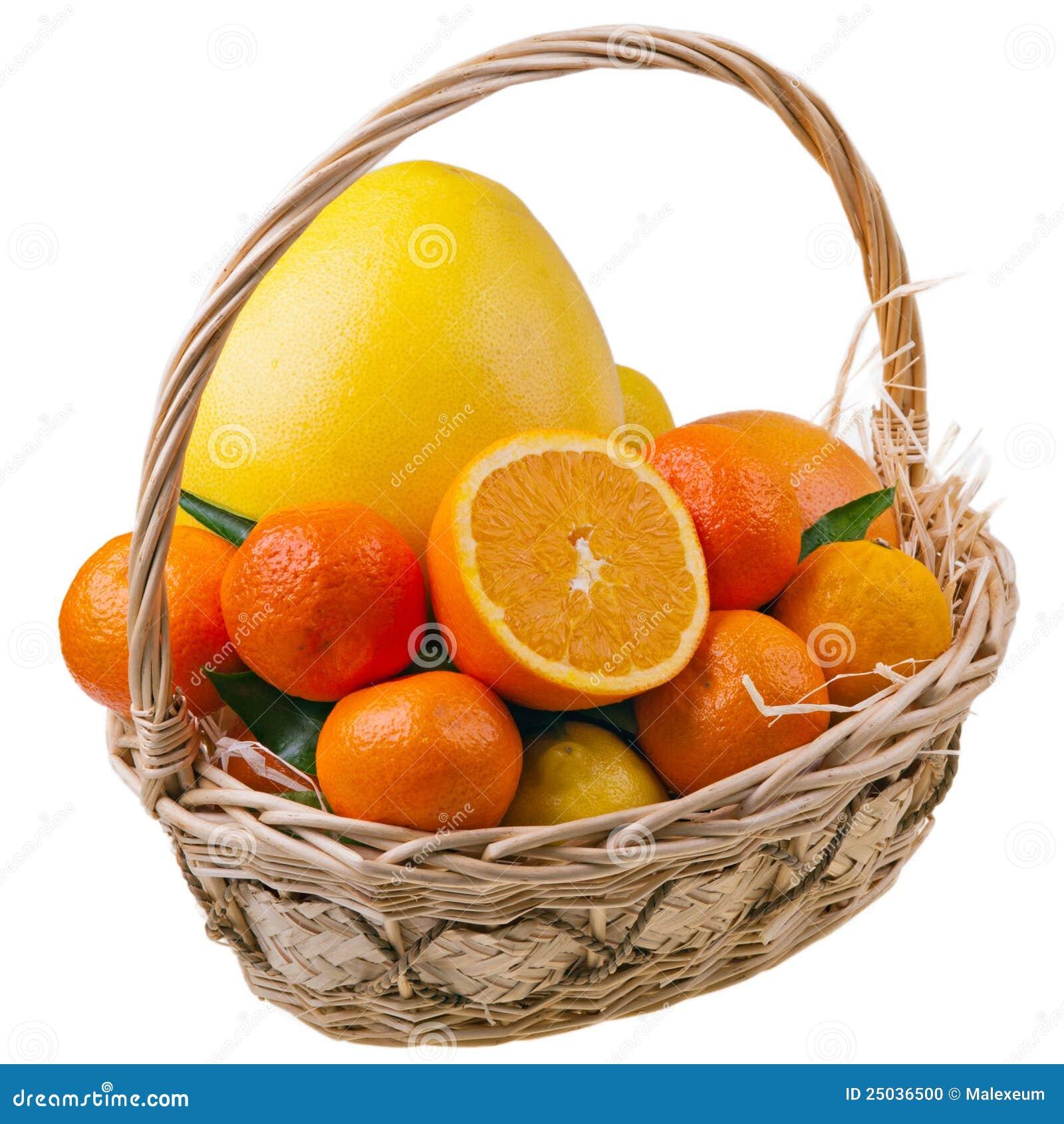 Citrusa frukter för korg