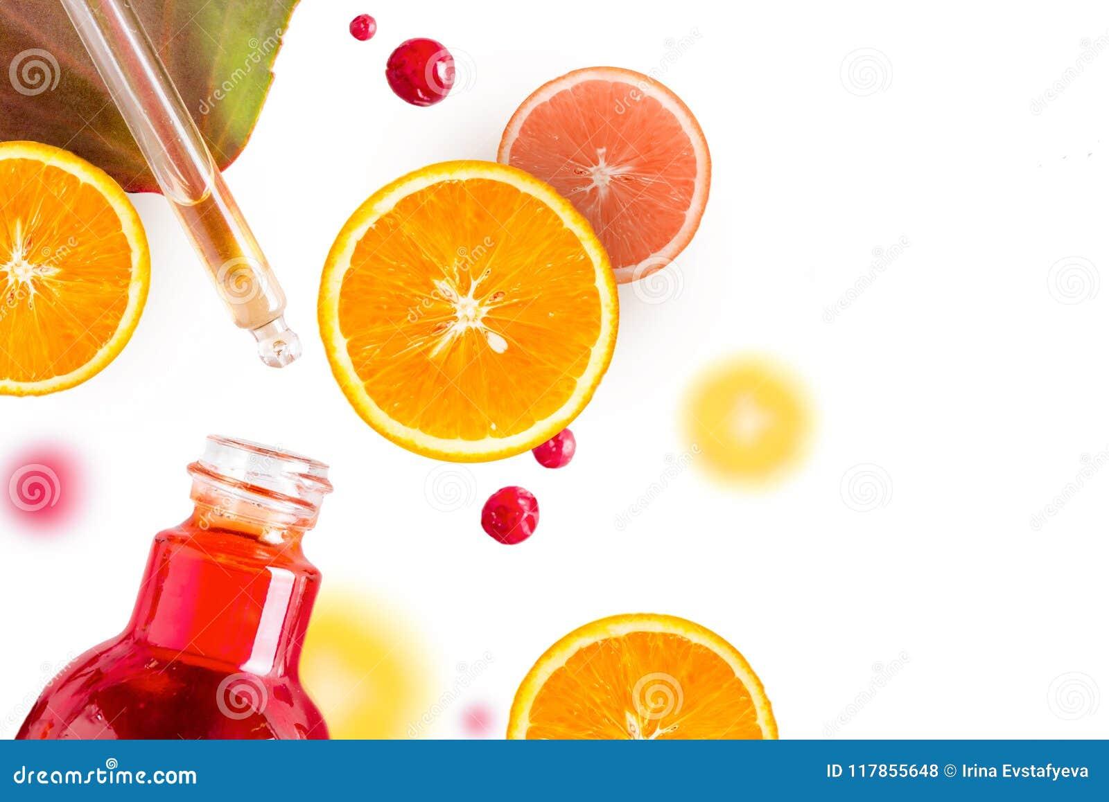 Citrusvruchtenetherische olie, vitamine Cserum, de therapie van het schoonheidsverzorgingaroma Organic Spa Schoonheidsmiddel met