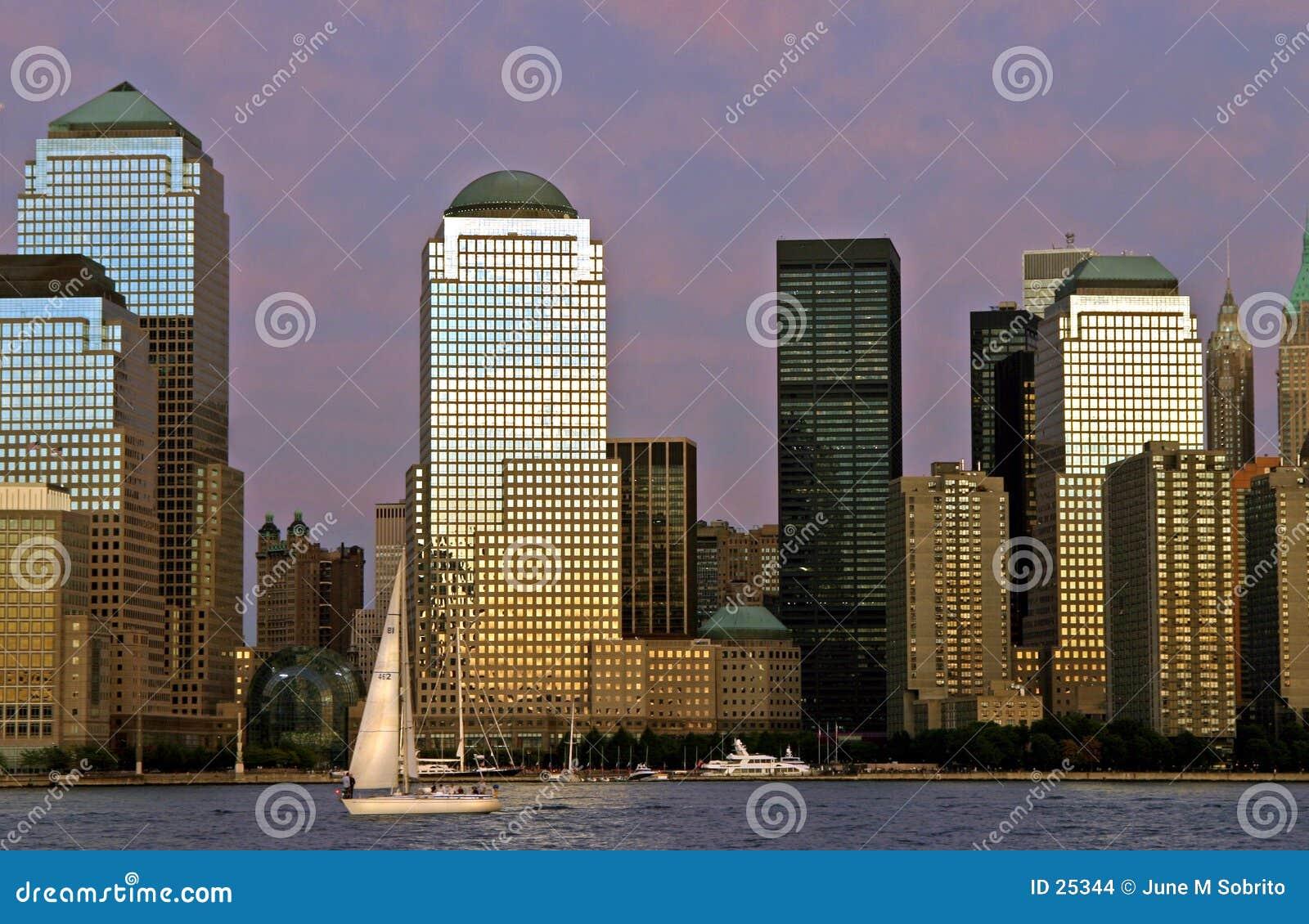 Città al tramonto
