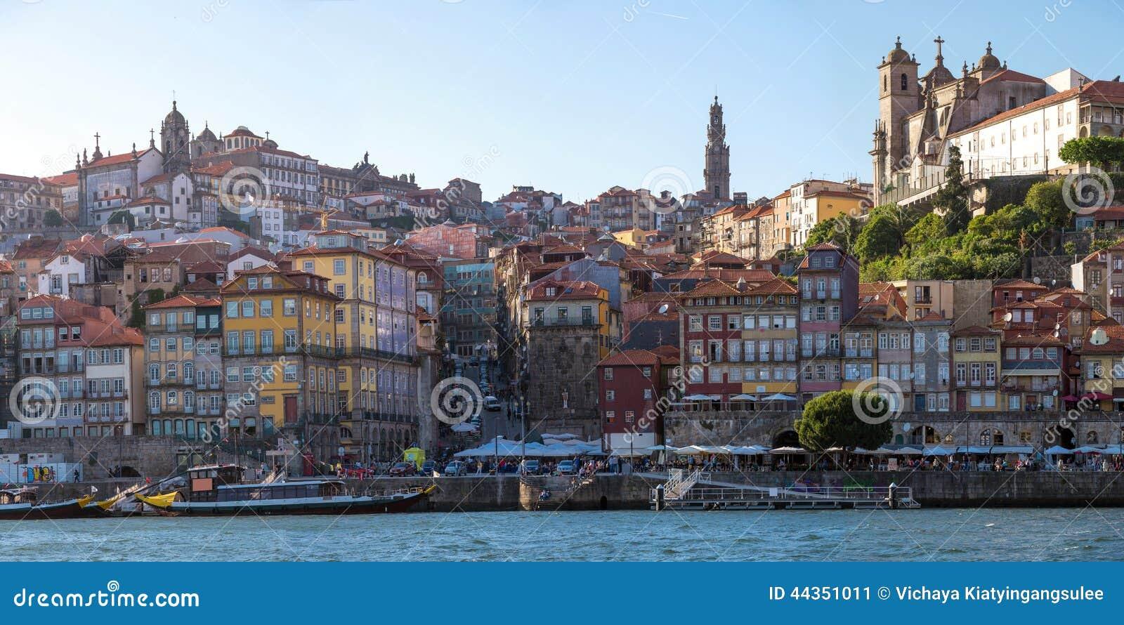 Città antica di Oporto di panorama