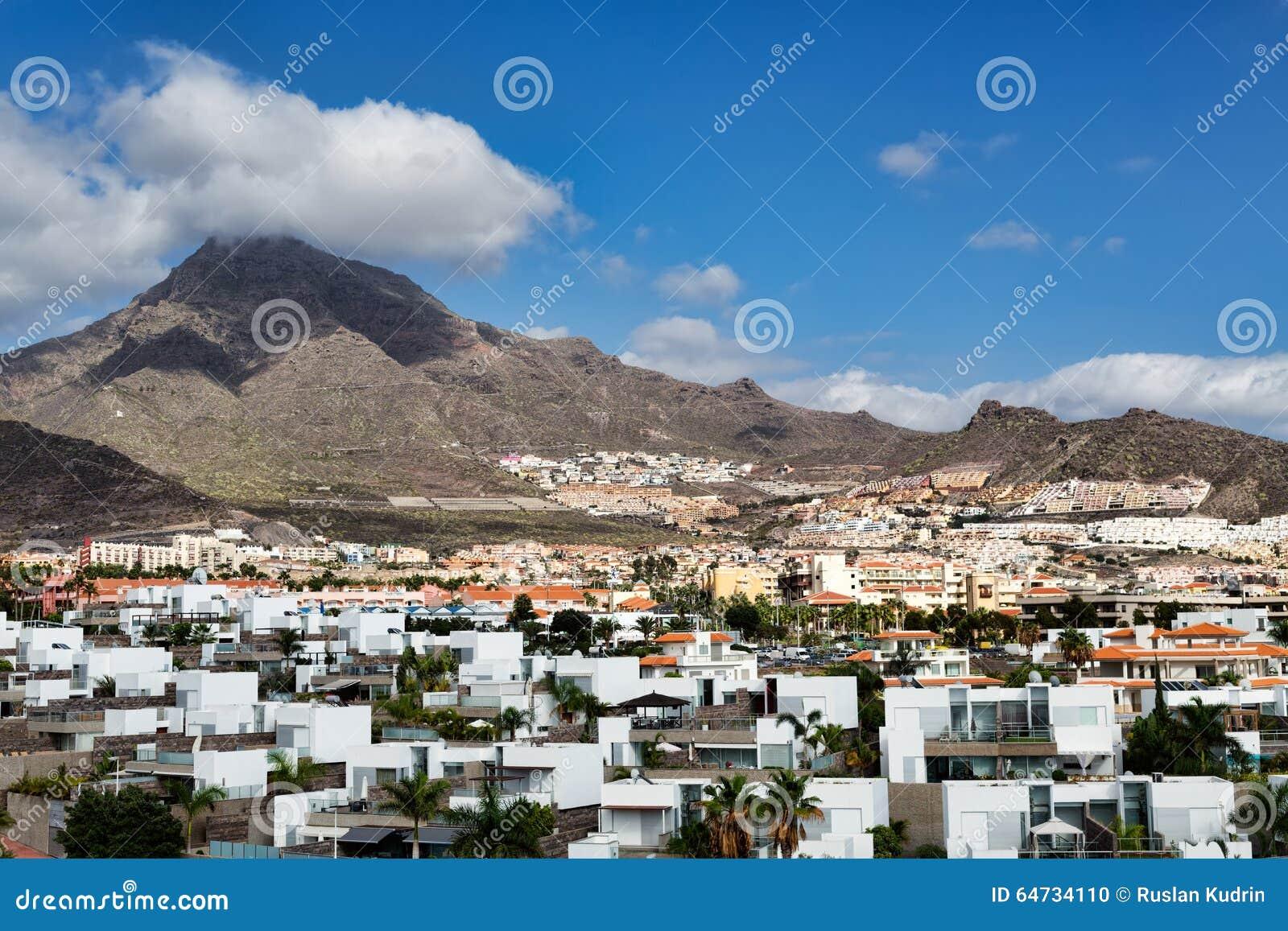 Città dalle isole Canarie vulcaniche