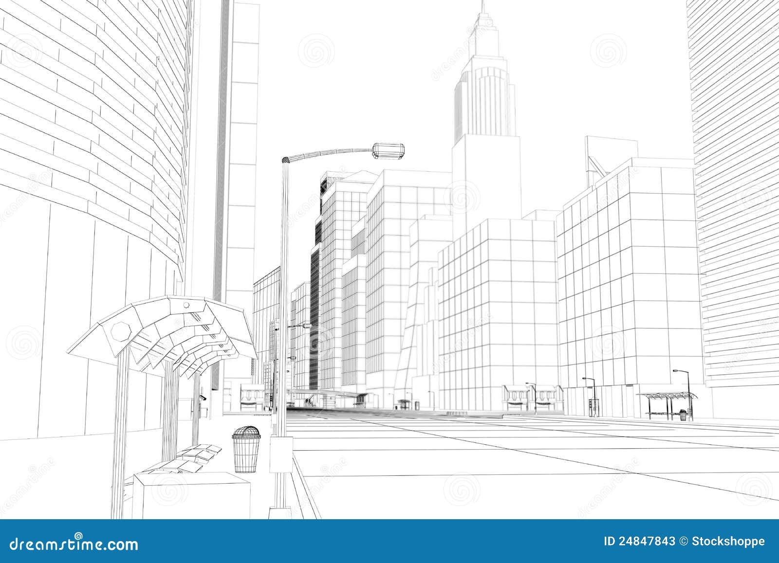 Città del blocco per grafici del collegare