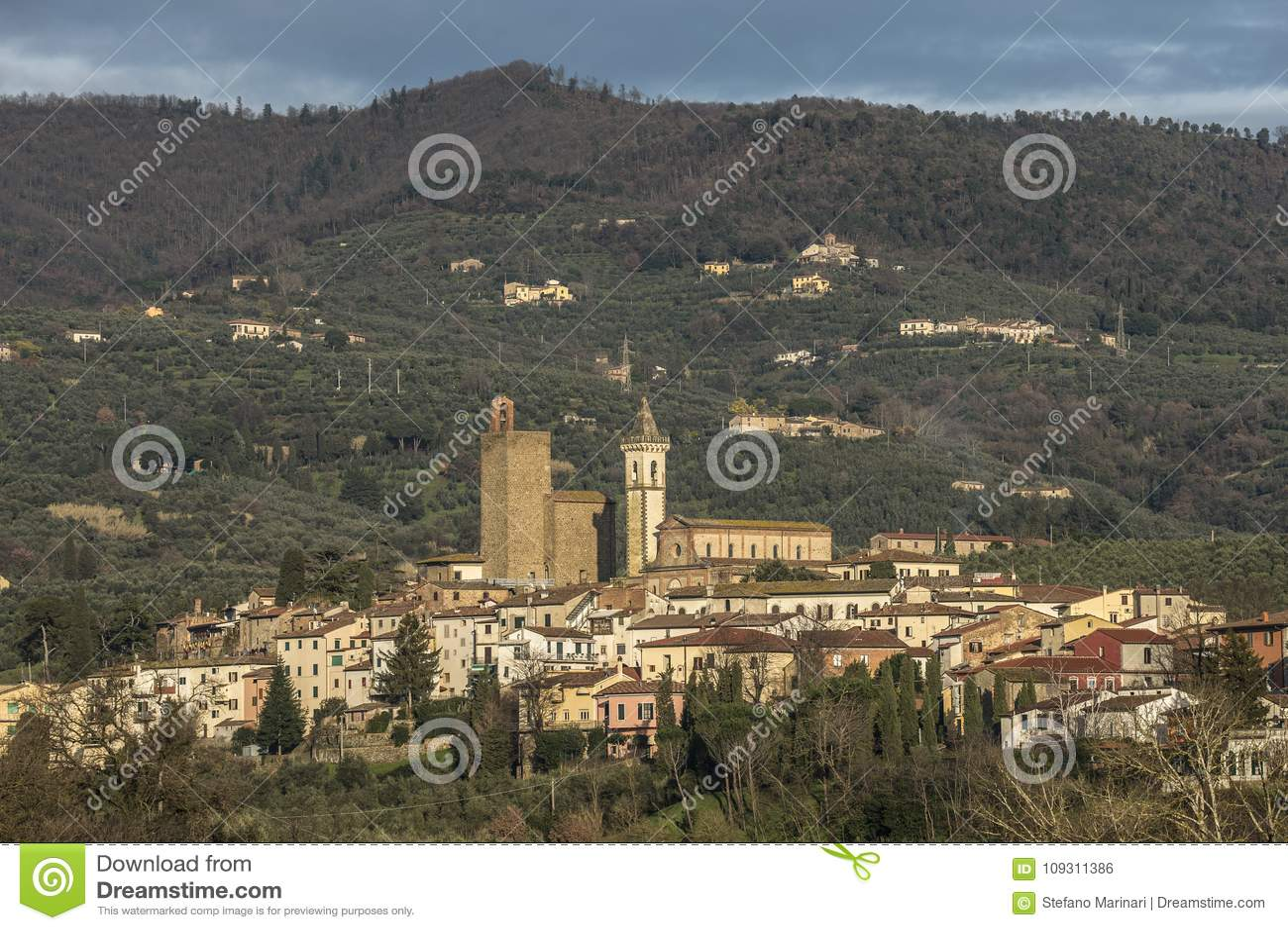 Città del ` s di Leonardo da Vinci in Toscana Italia