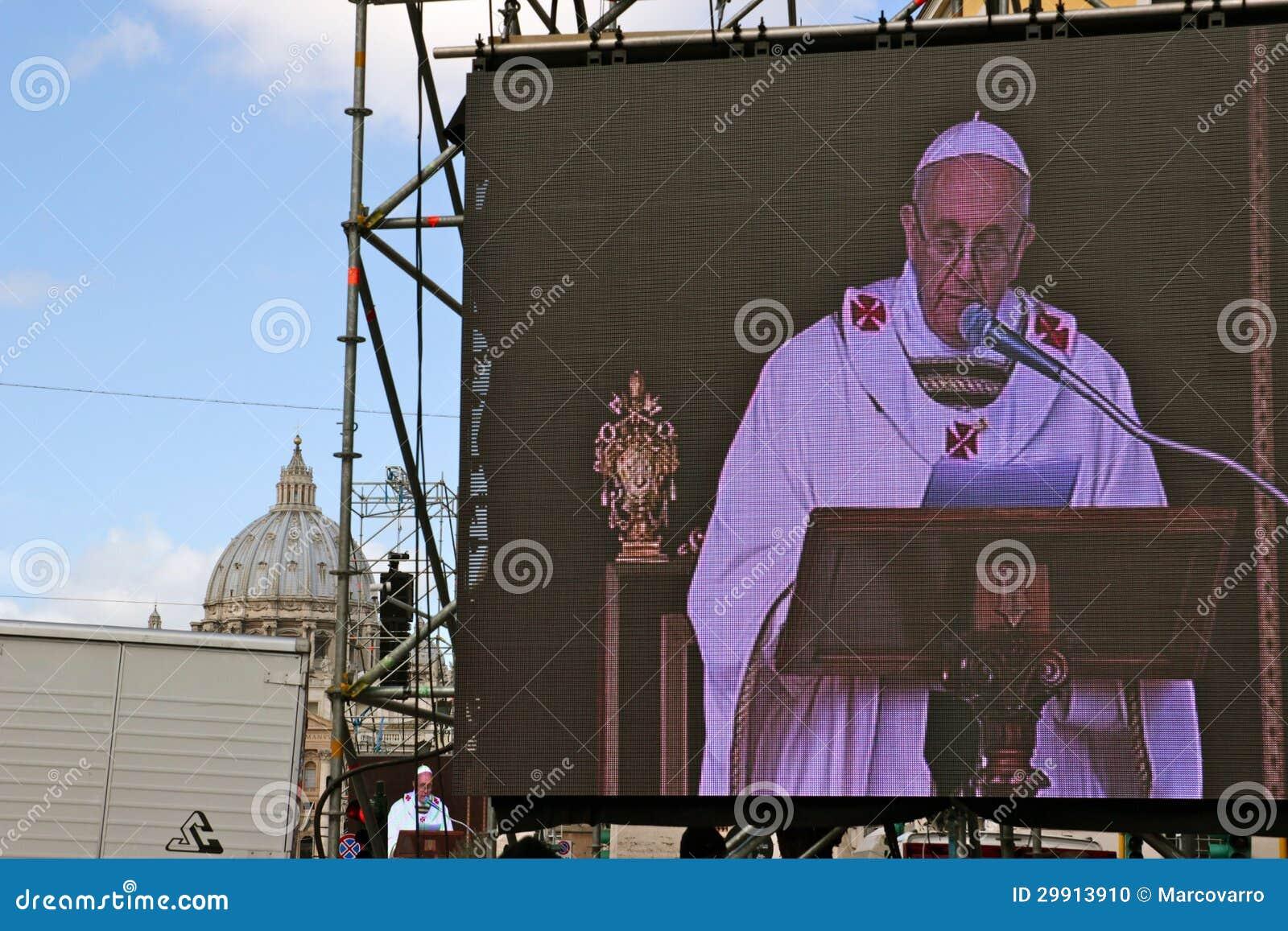 Massa dell installazione di papa Francis I