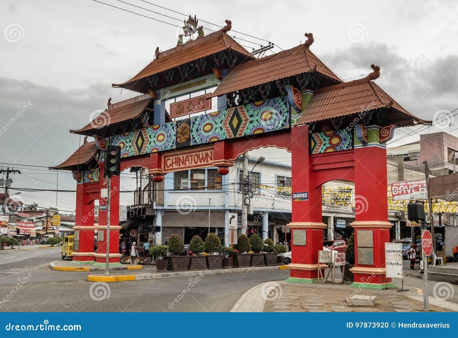 Città della Cina della città di Davao, Filippine