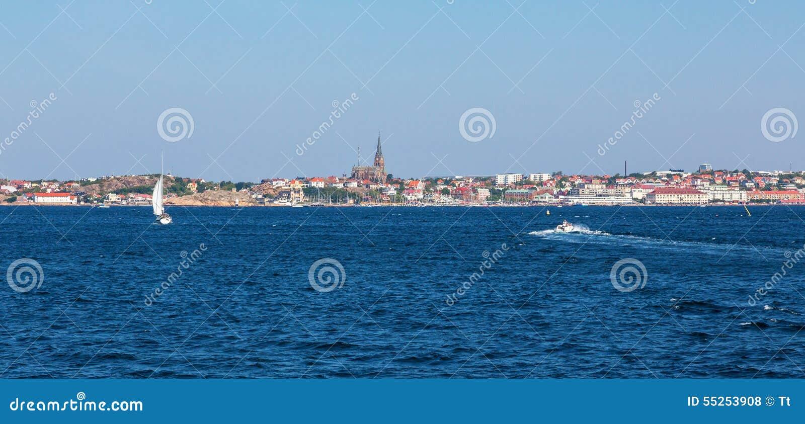 Città di Lysekil dal mare