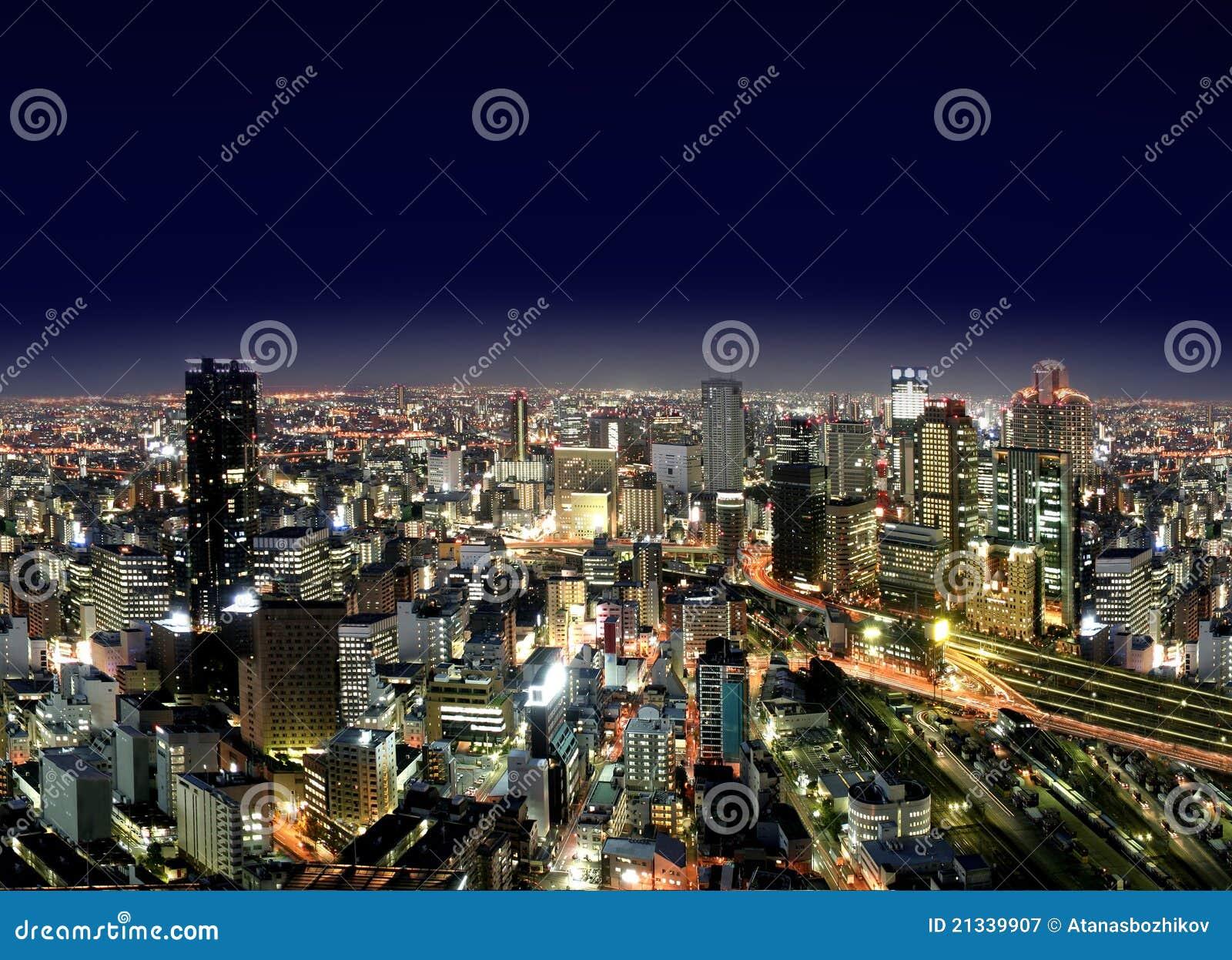 Città di Osaka entro Night