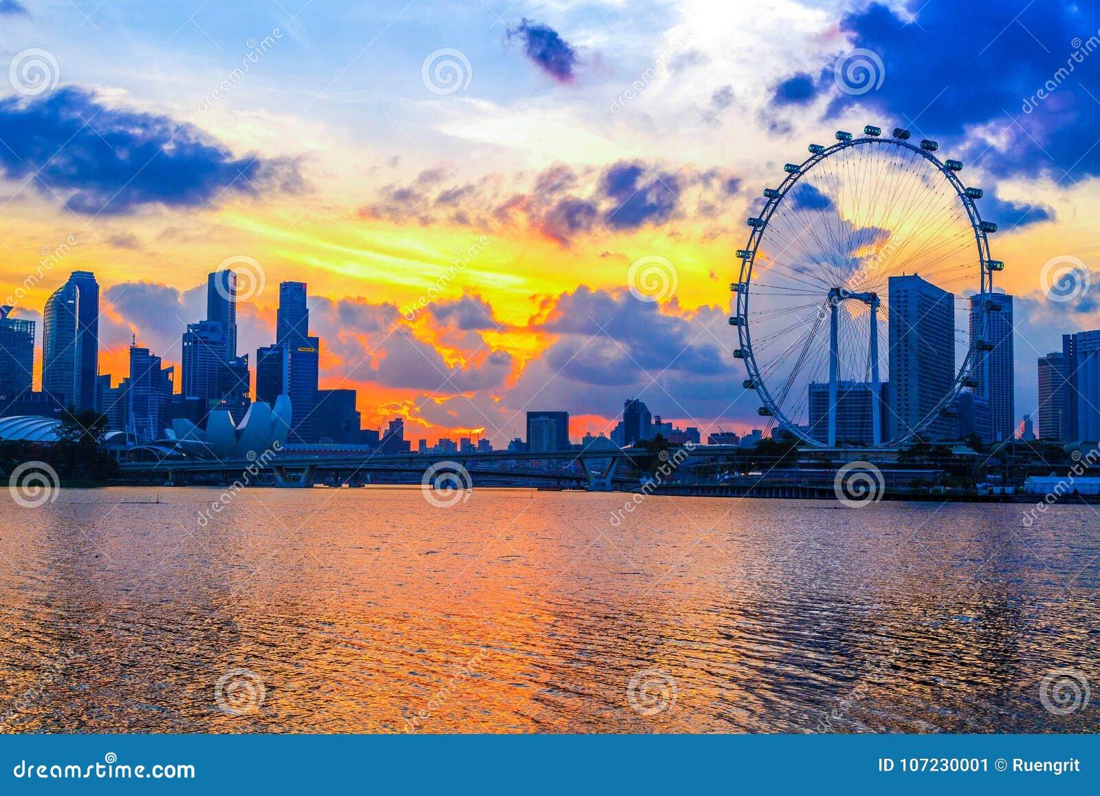 Città di Singapore, Singapore: Gennaio 2,2018: Orizzonte di Singapore Singap