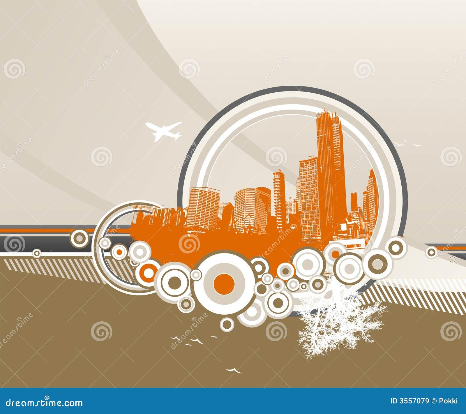 Città e natura con i cerchi.