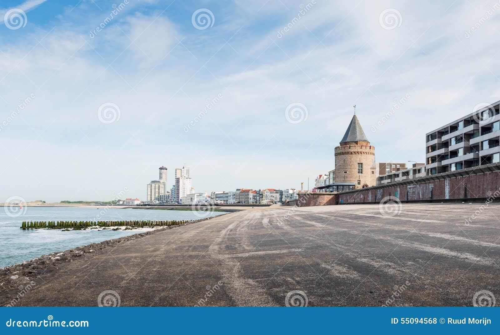 Citt olandese di flessinga veduta dalla costa del te for Architettura olandese