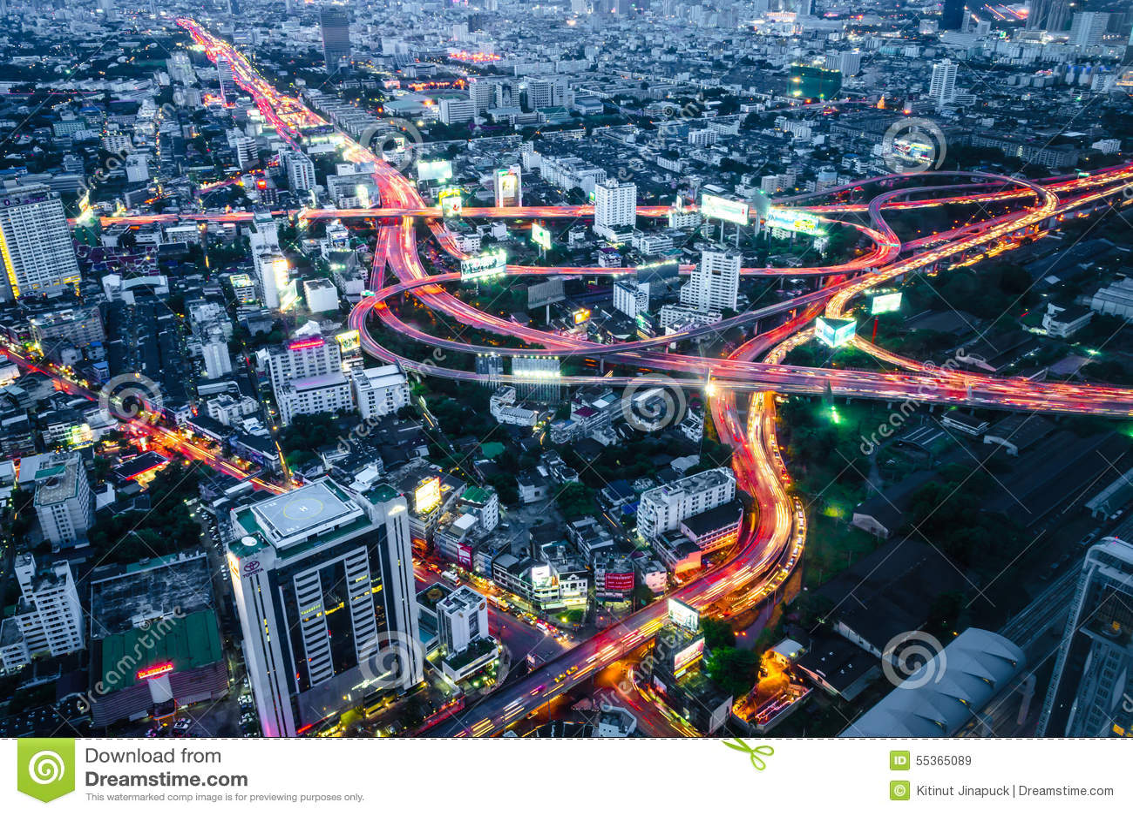 Città Scape, Bangkok, Tailandia