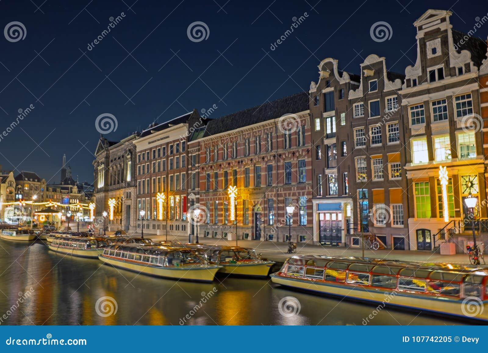 Foto Di Amsterdam A Natale.Citta Scenica Da Amsterdam A Natale Nei Paesi Bassi A Ni