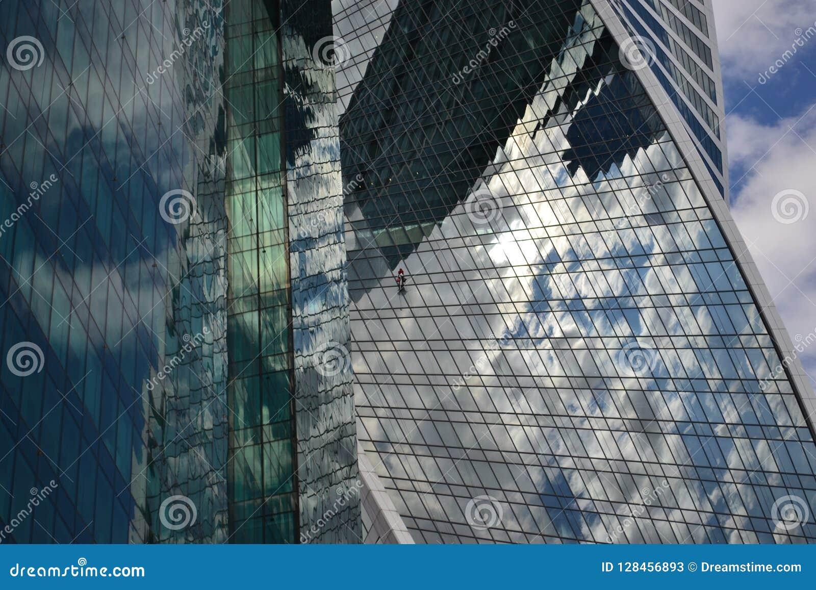 Città torre grattacielo vetro architettura immagine stock