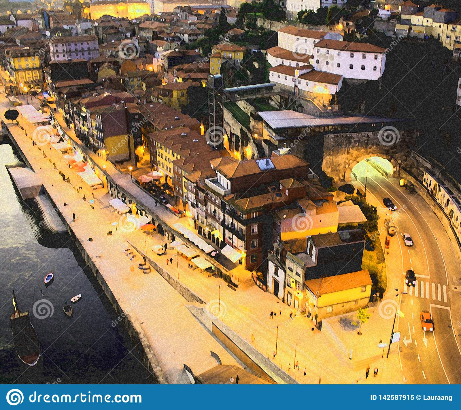 Citt? di Oporto Fiume di Douro Ribeira