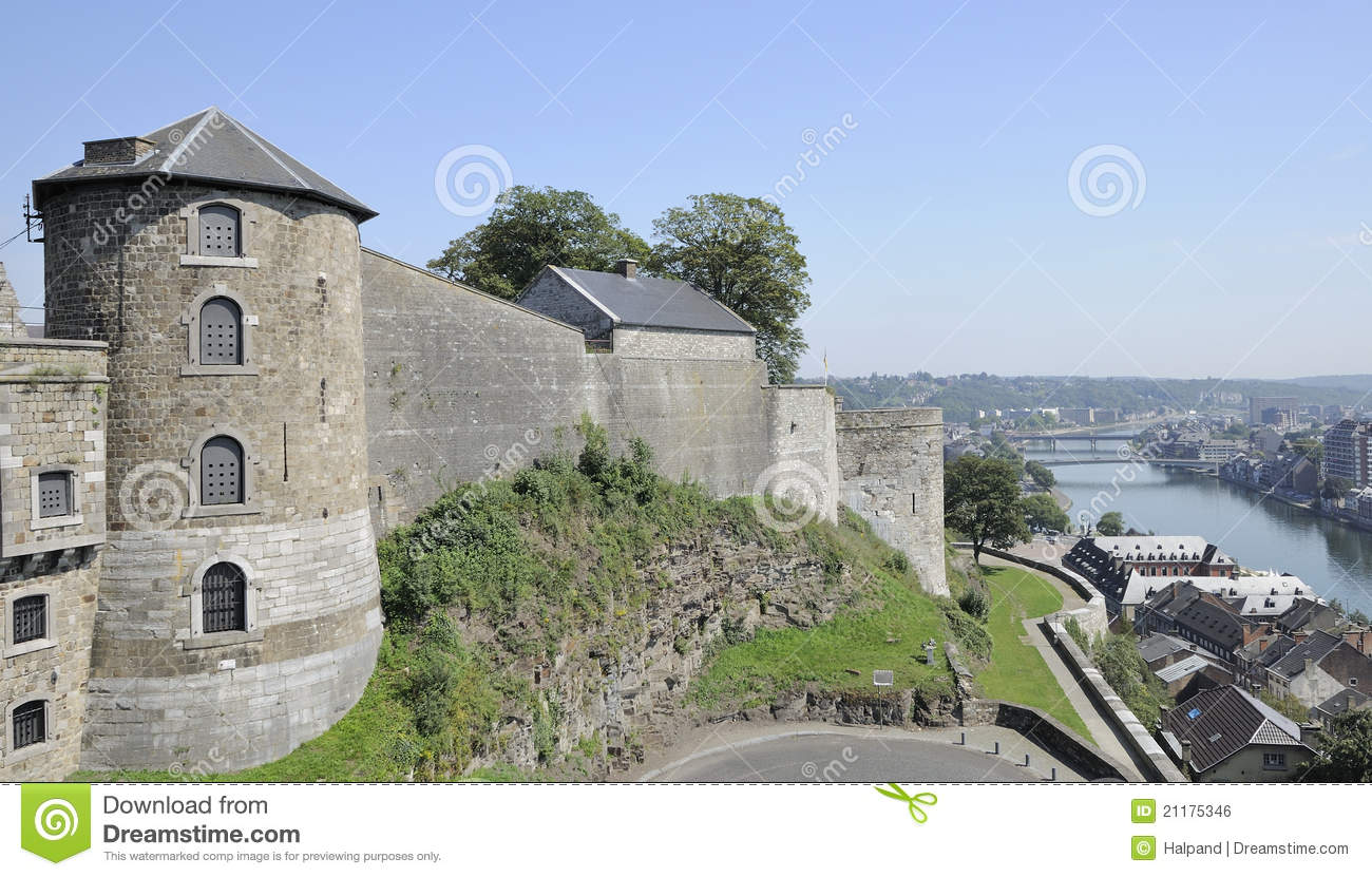 Cittadelle tower and ramparts, namur