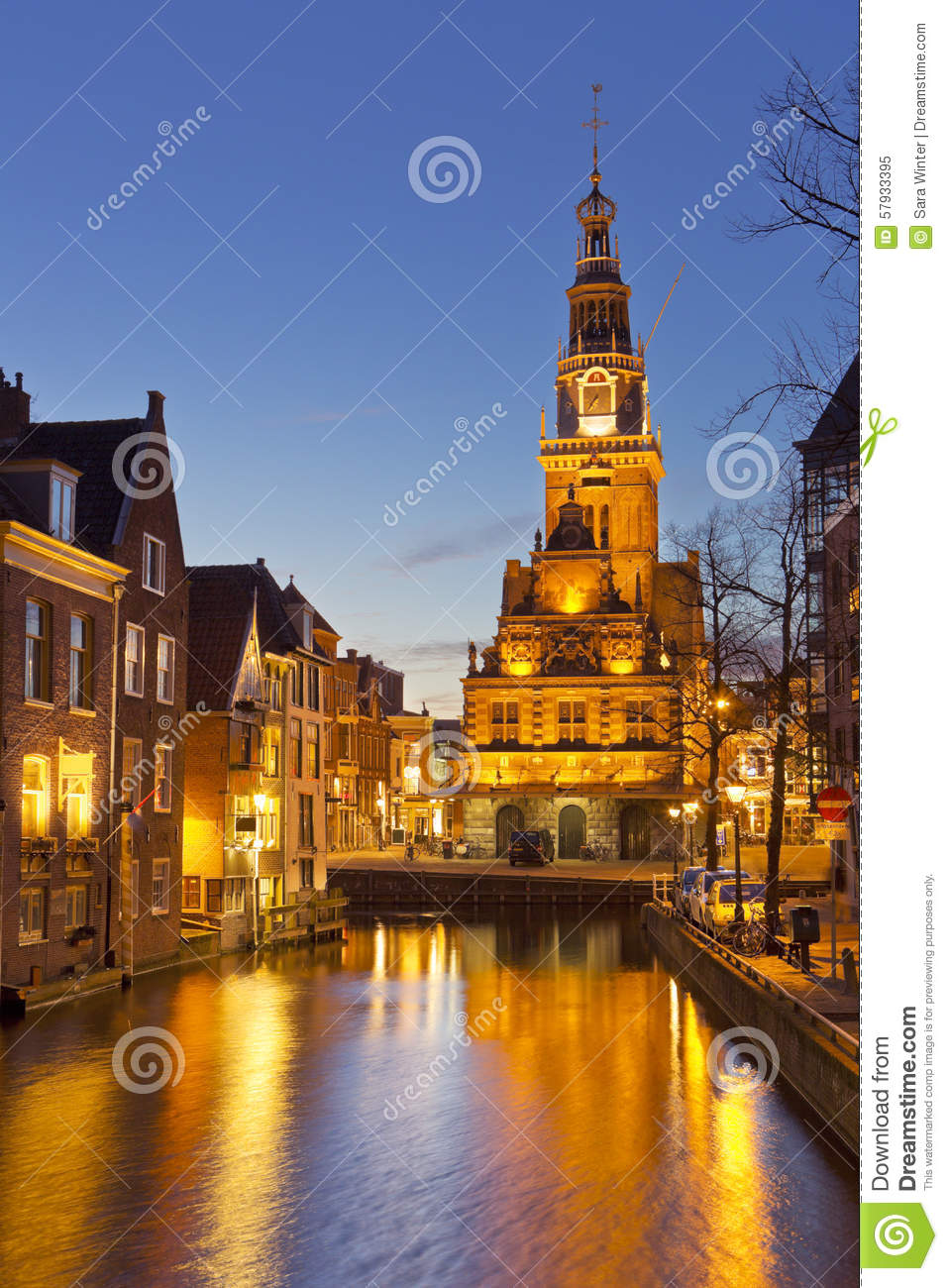 City of Alkmaar, The Netherlands at night