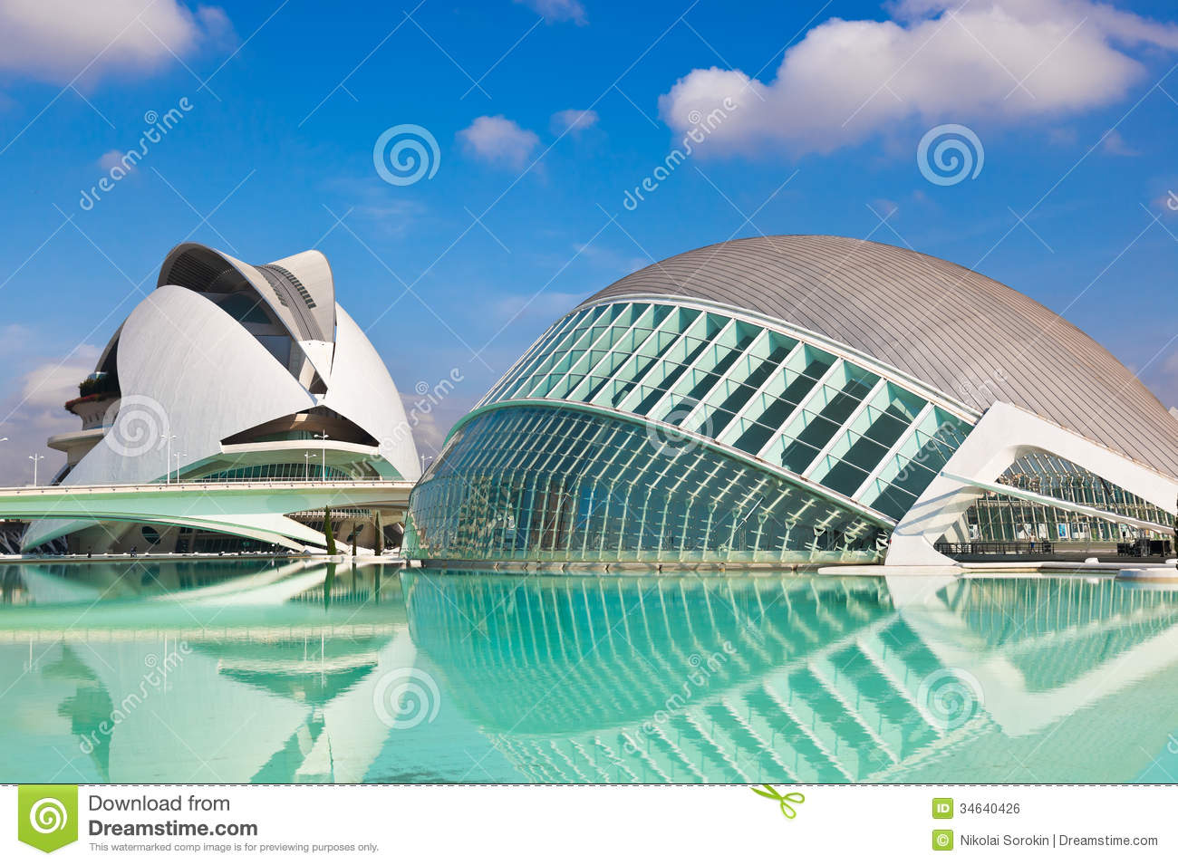 Modern Architecture Spain city of arts and sciences - valencia spain editorial photo - image