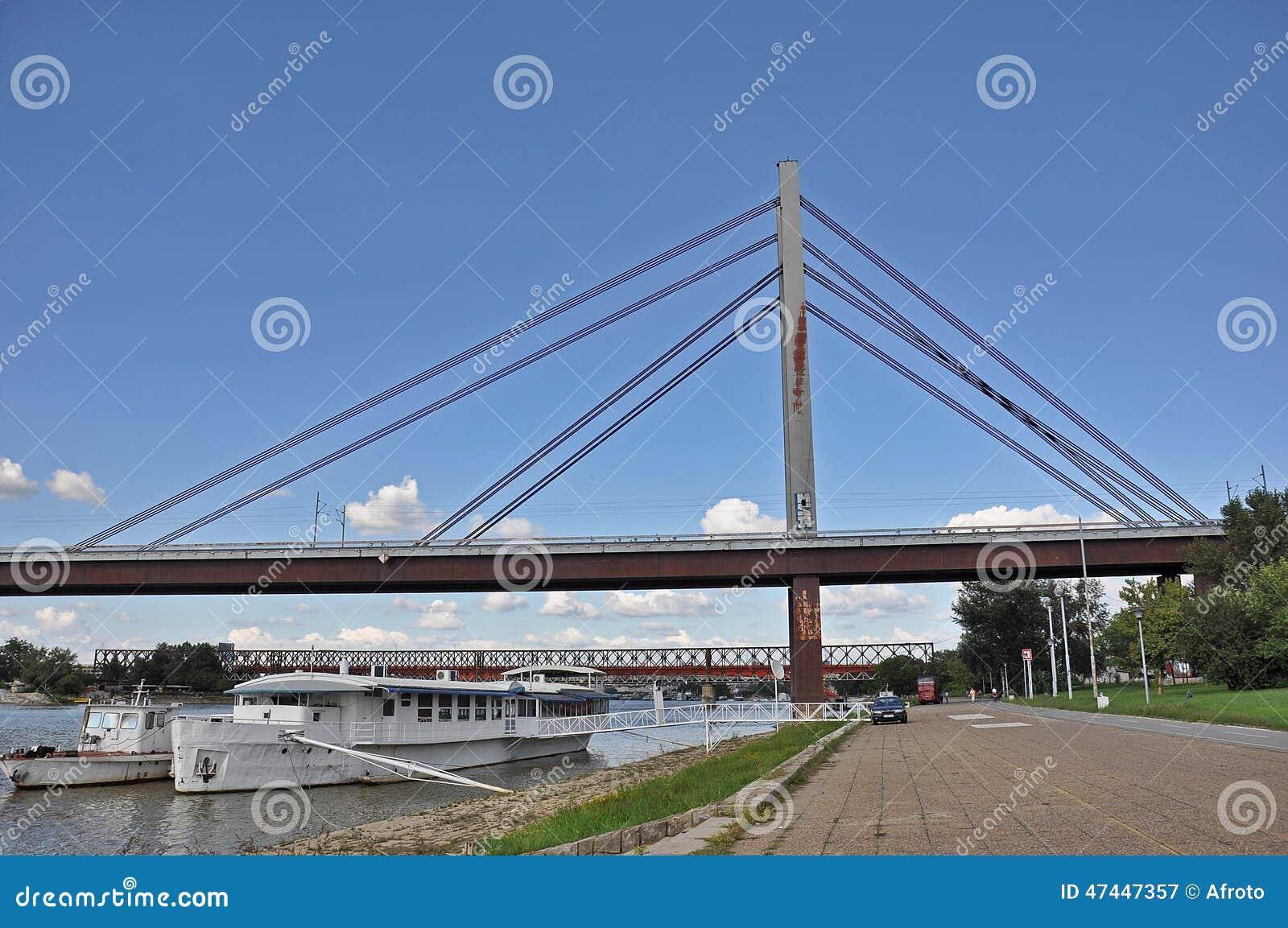 City bridge with a boardwalk