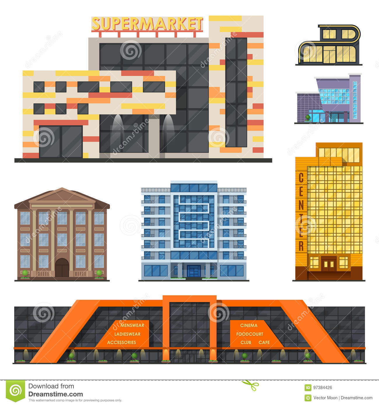 City Buildings Modern Tower Office Architecture House Business ...