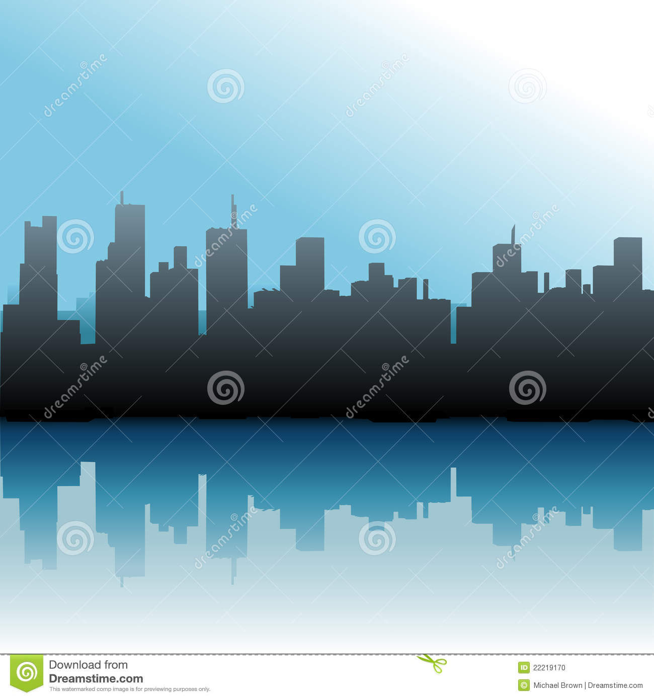 Download City Buildings Urban Skyline Sea Sky Stock Vector - Illustration of docks, buildings: 22219170