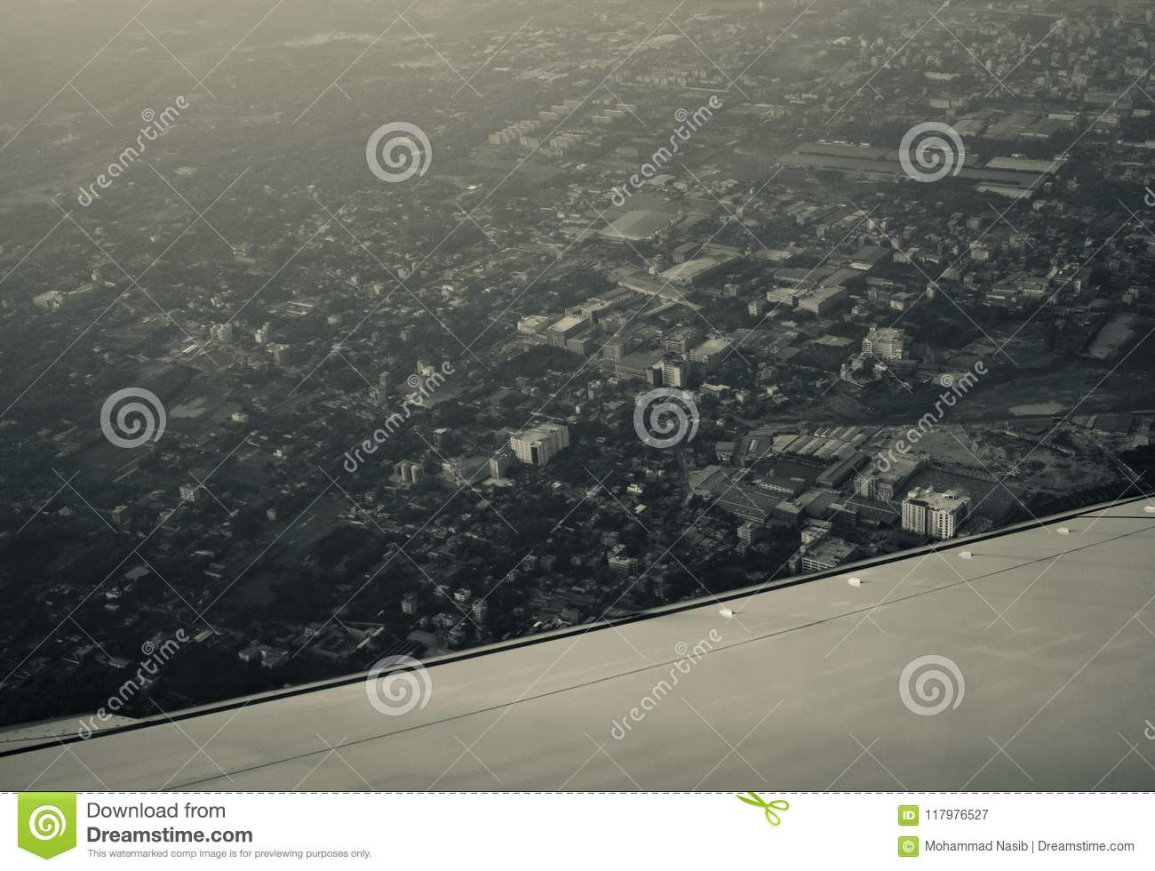 Download City Buildings View From The Aircraft Unique Blurry Photo Stock Image - Image of high, blurry: 117976527
