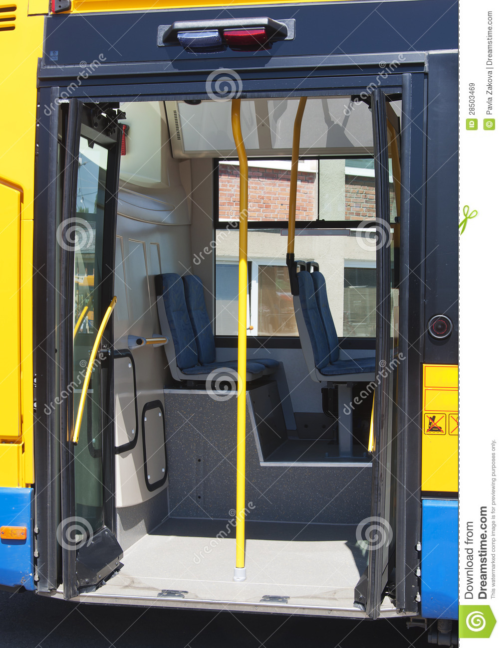 City Bus Door Royalty Free Stock Images Image 28503469