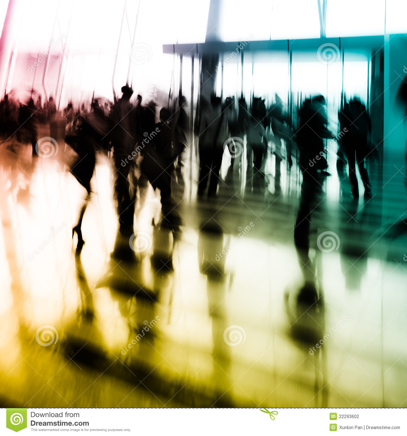 City Business People Abstract Background Stock Photography