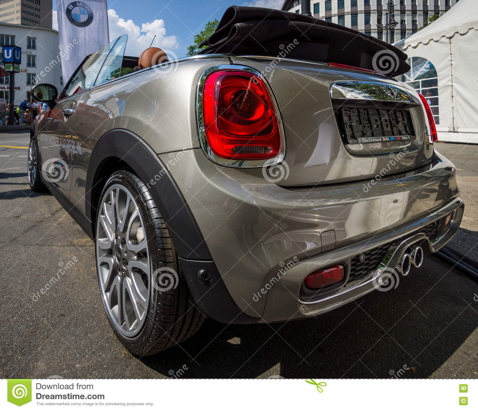 City Car Mini Cooper S Convertible. Editorial Photography ...
