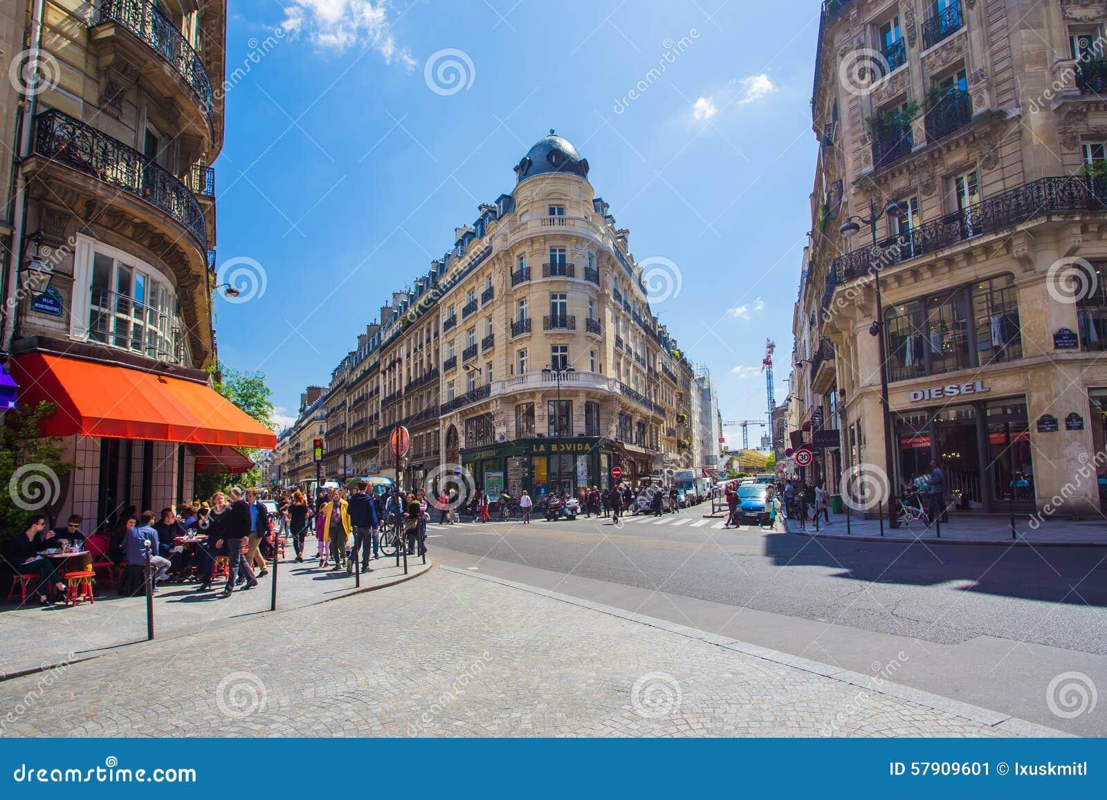 City center of paris in les halles area editorial photo image 57909601 - Les cents ciels paris 11 ...