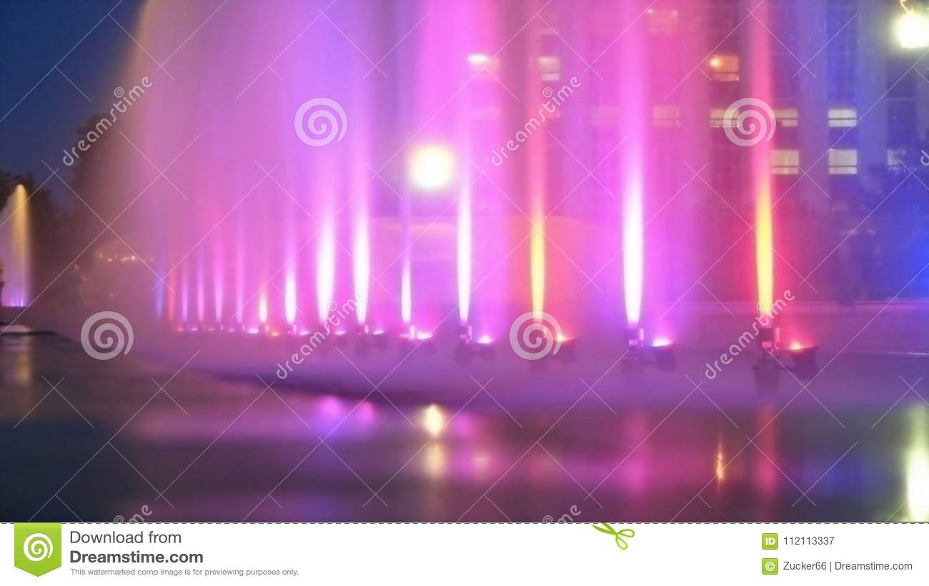 City color fountain as background