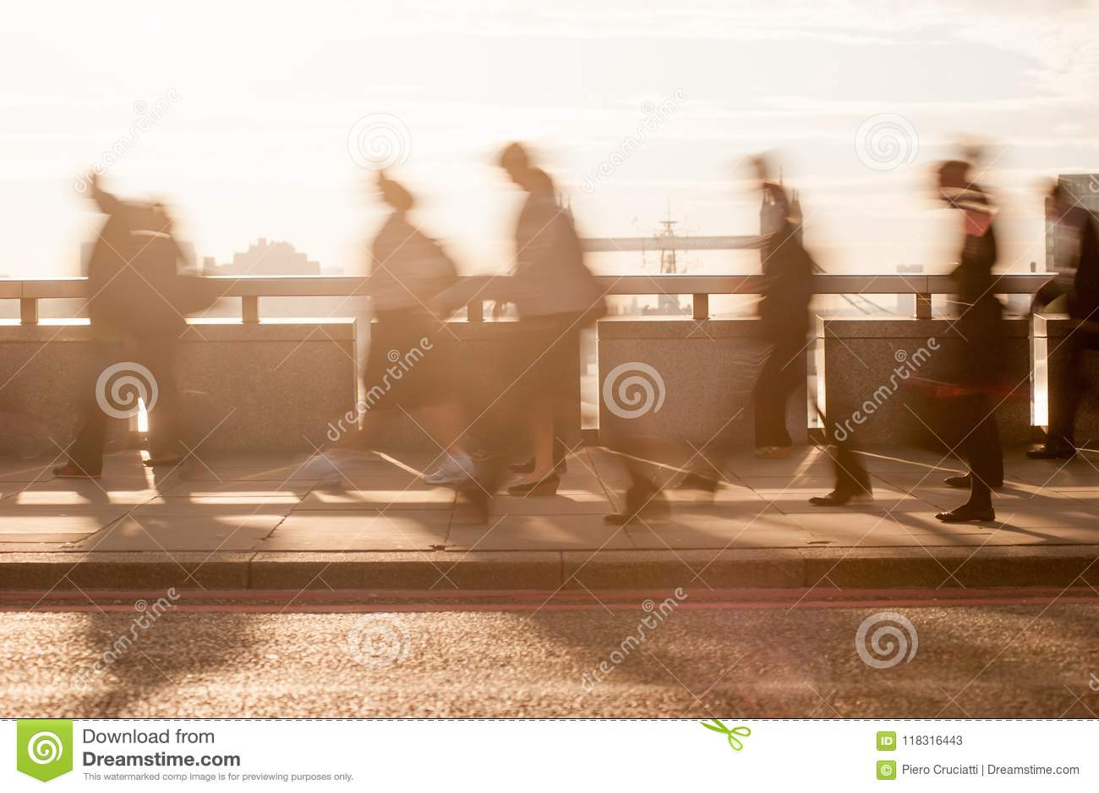City commuters in London