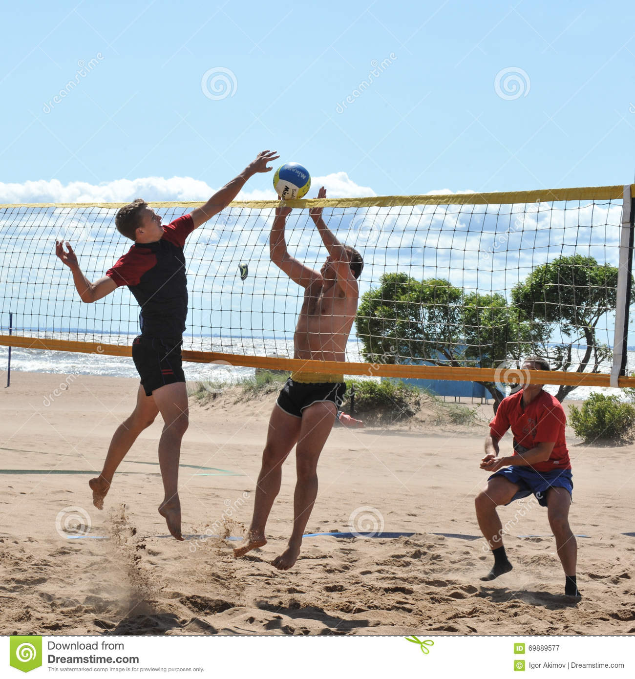 City competitions on beach volleyball