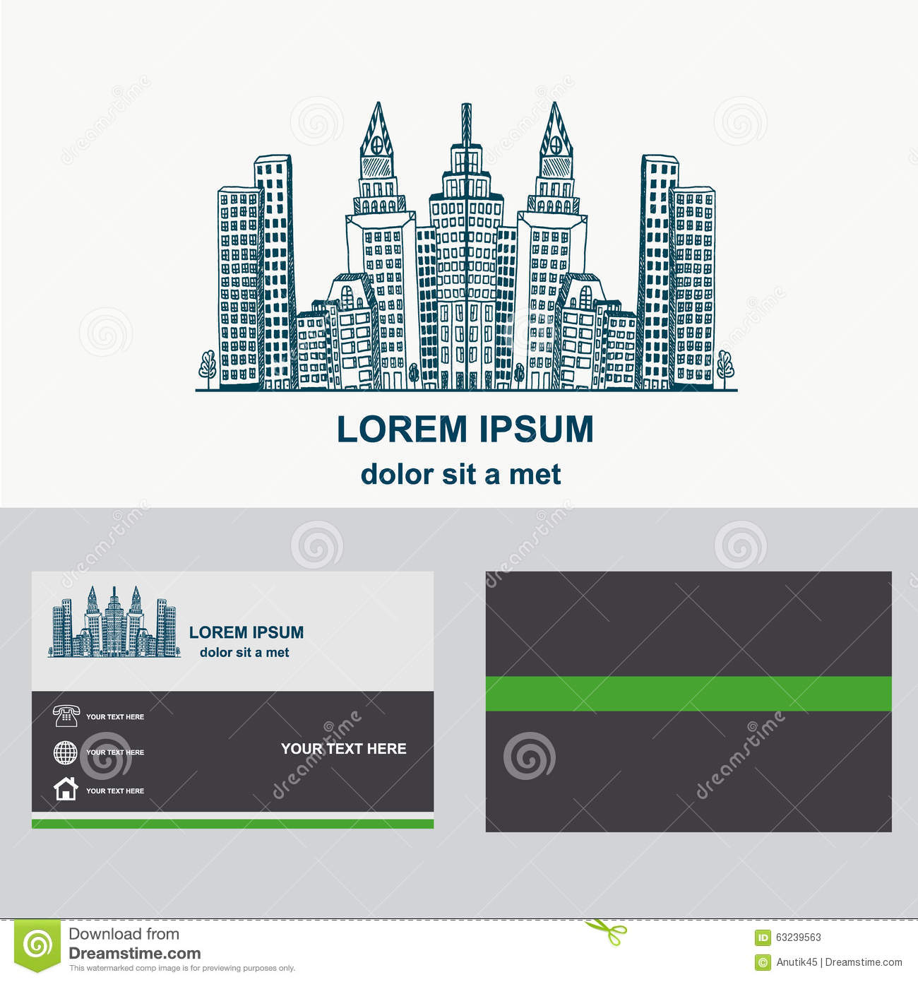 City construction logo design for company logotype with business city construction logo design for company logotype with business card template magicingreecefo Images