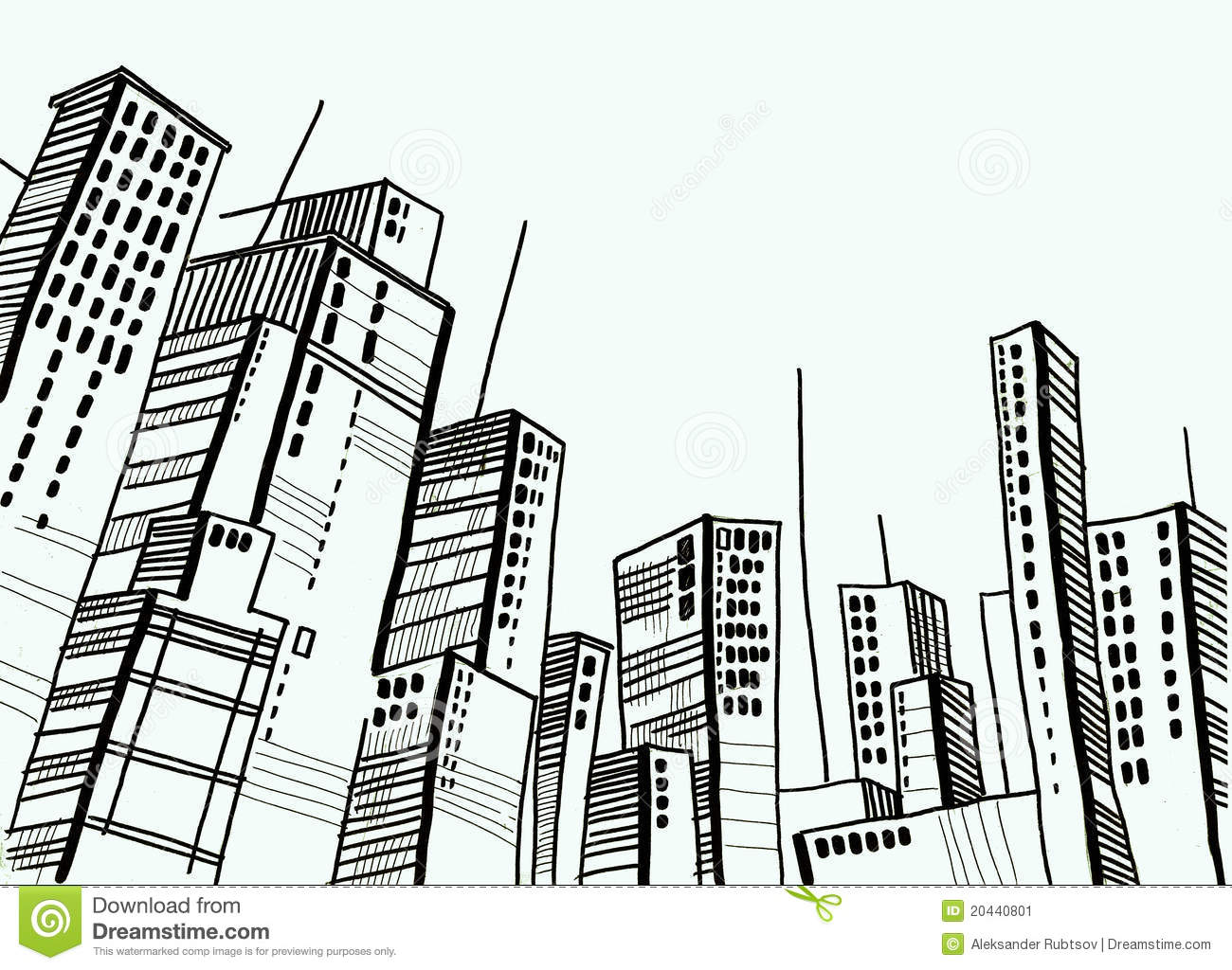 City And Dome And Drawing And Architecture Stock Illustration