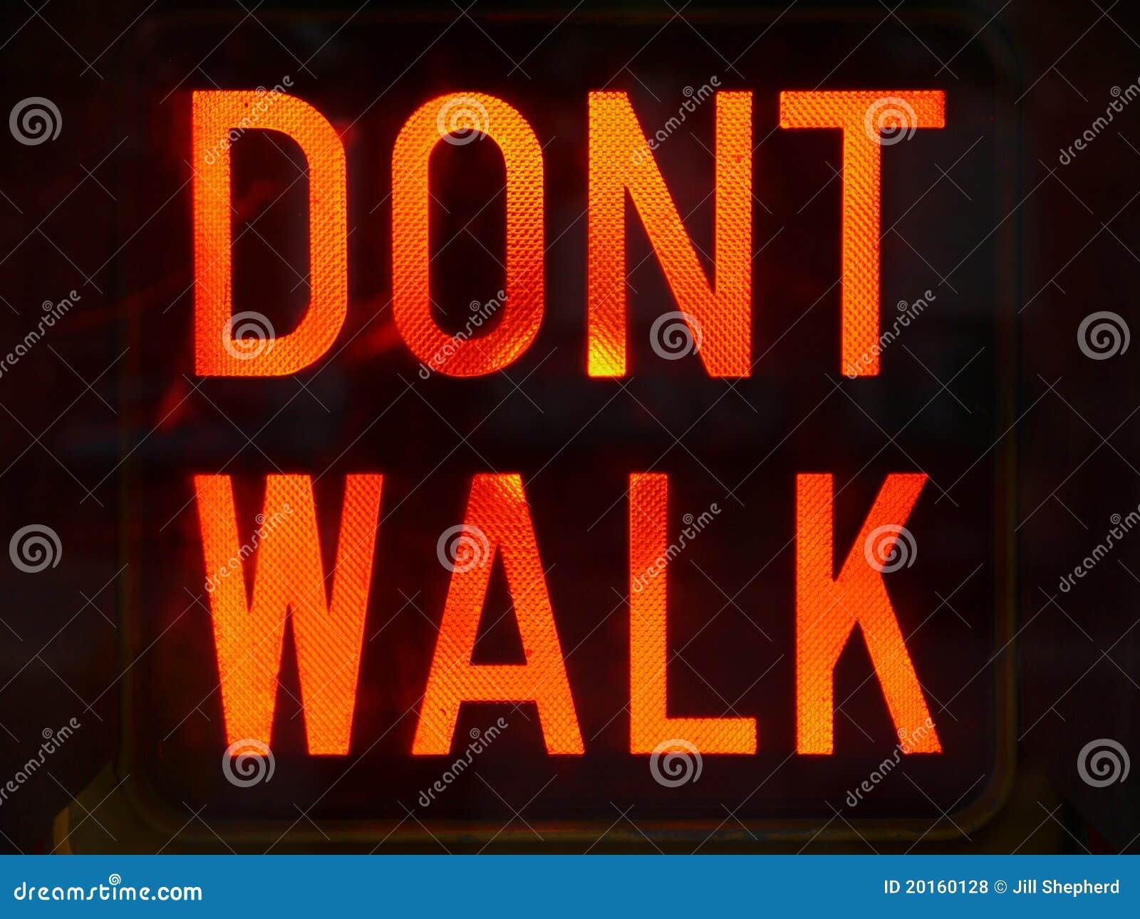 City: Dont Walk sign