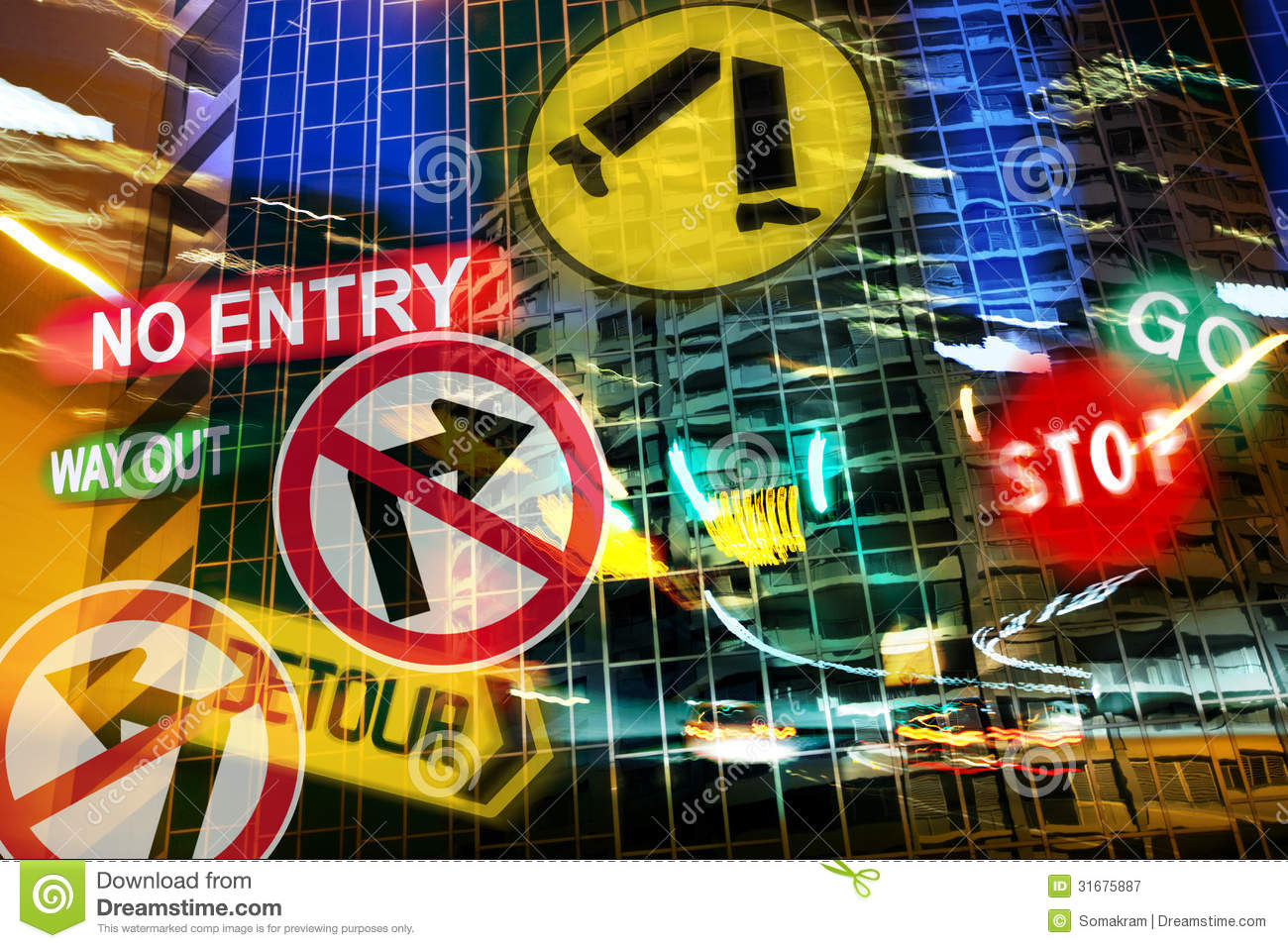 City Driving Nightmare Royalty Free Stock Photography ...