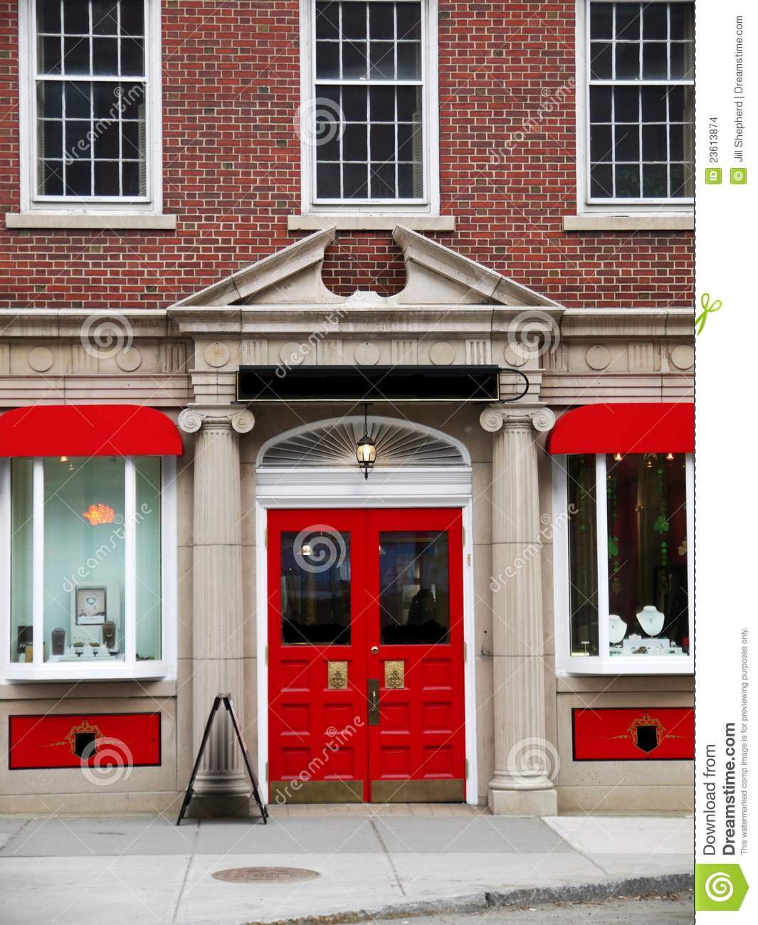 City Elegant Red Store Front Stock Images Image 23613874