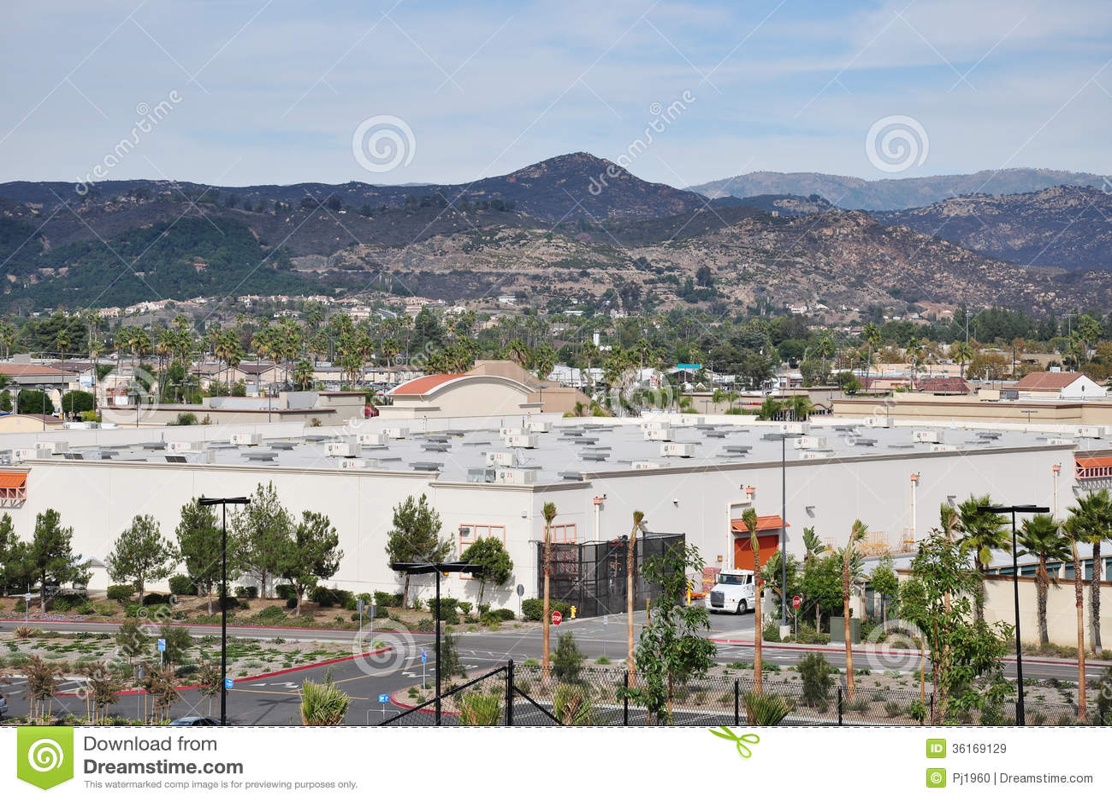city escondido view commercial district california 36169129
