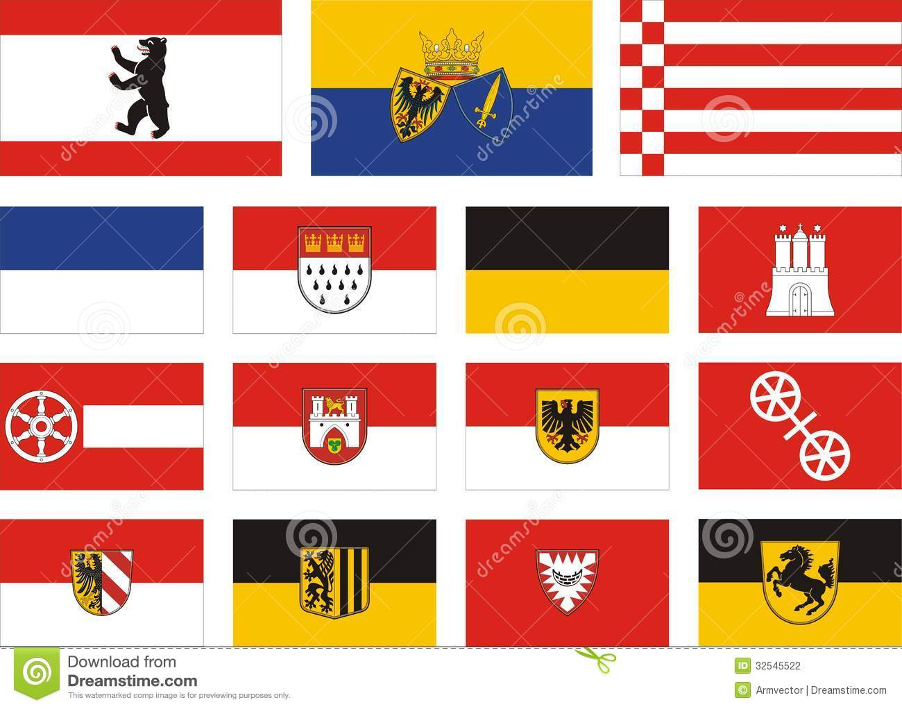 city flags of germany stock photography image 32545522