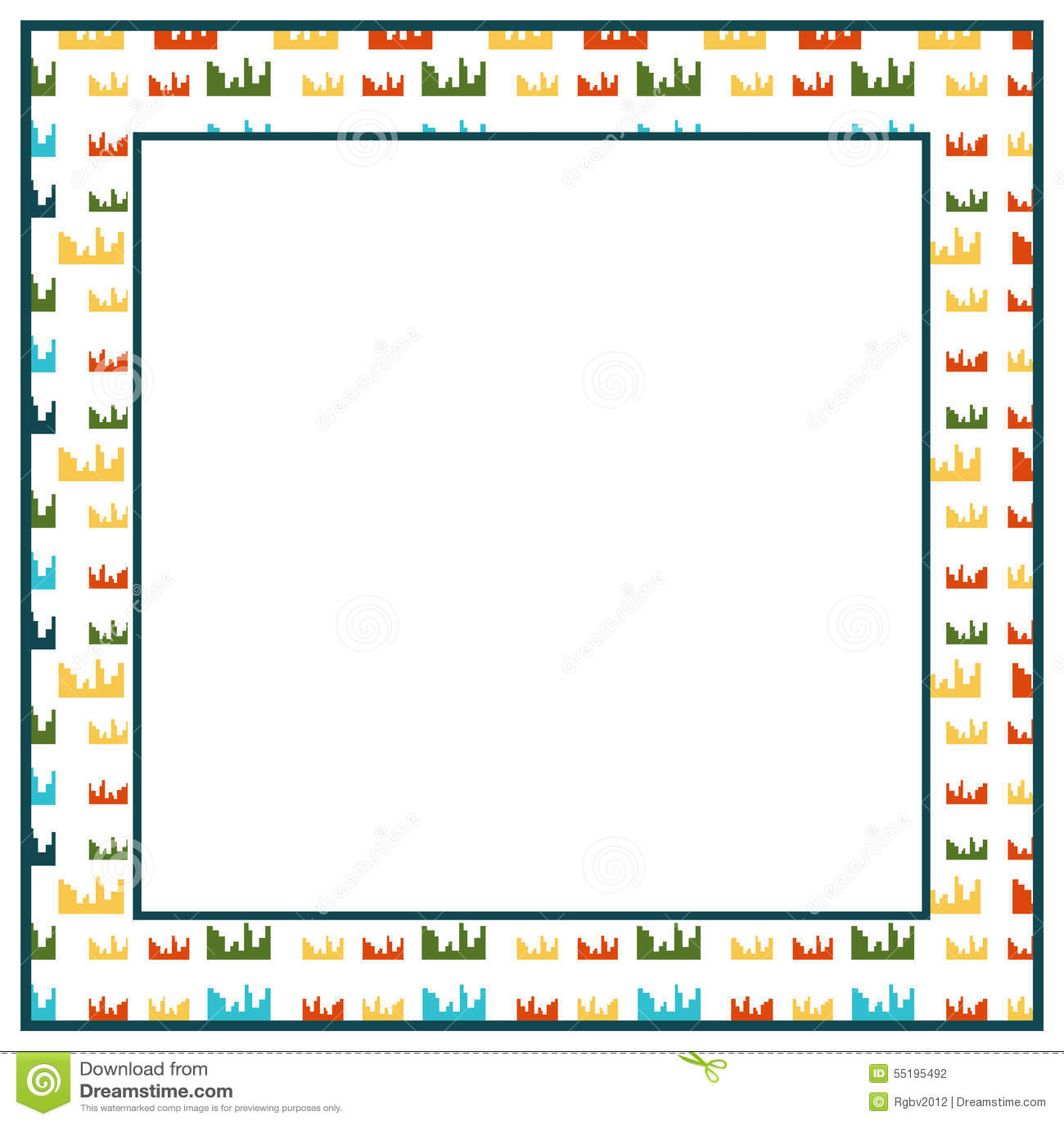 City frame stock vector. Illustration of wallpaper, pattern - 55195492
