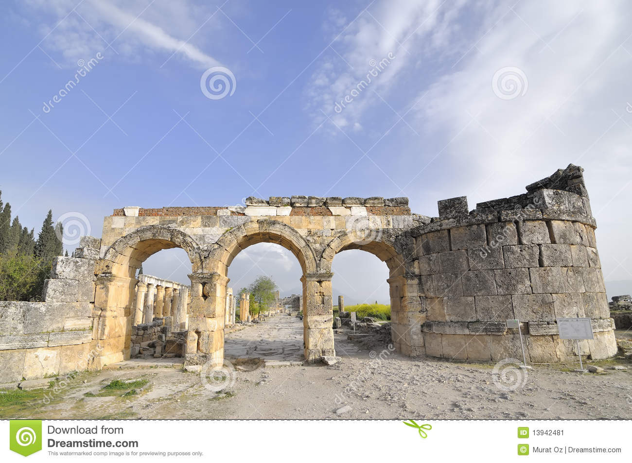 Denizli Turkey  city photo : City Gate Of Hierapolis,Denizli,Turkey Stock Image Image: 13942481