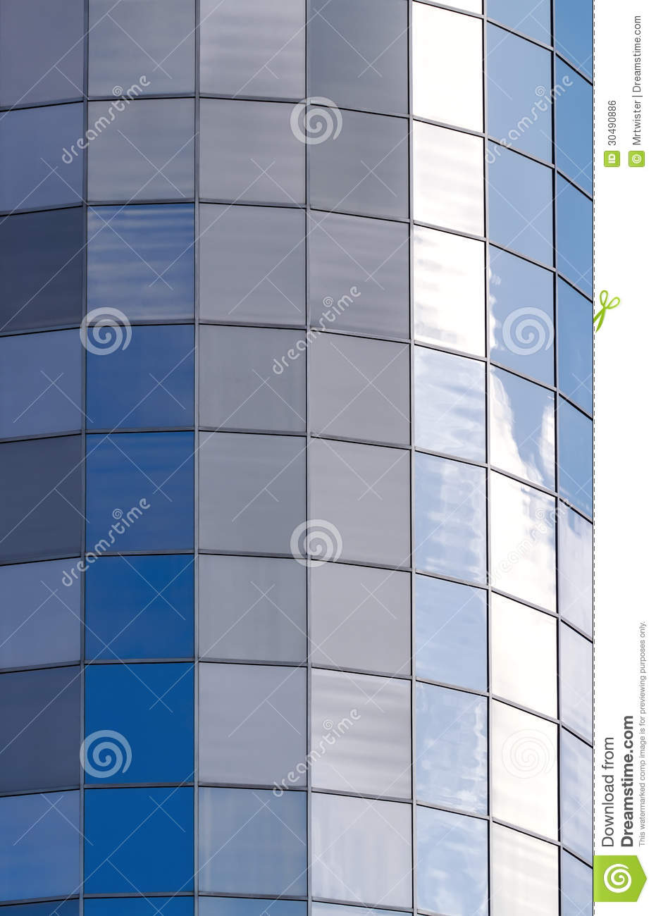 Glass Facade Of Office Building Royalty Free Stock Image: City Glass Building Royalty Free Stock Image