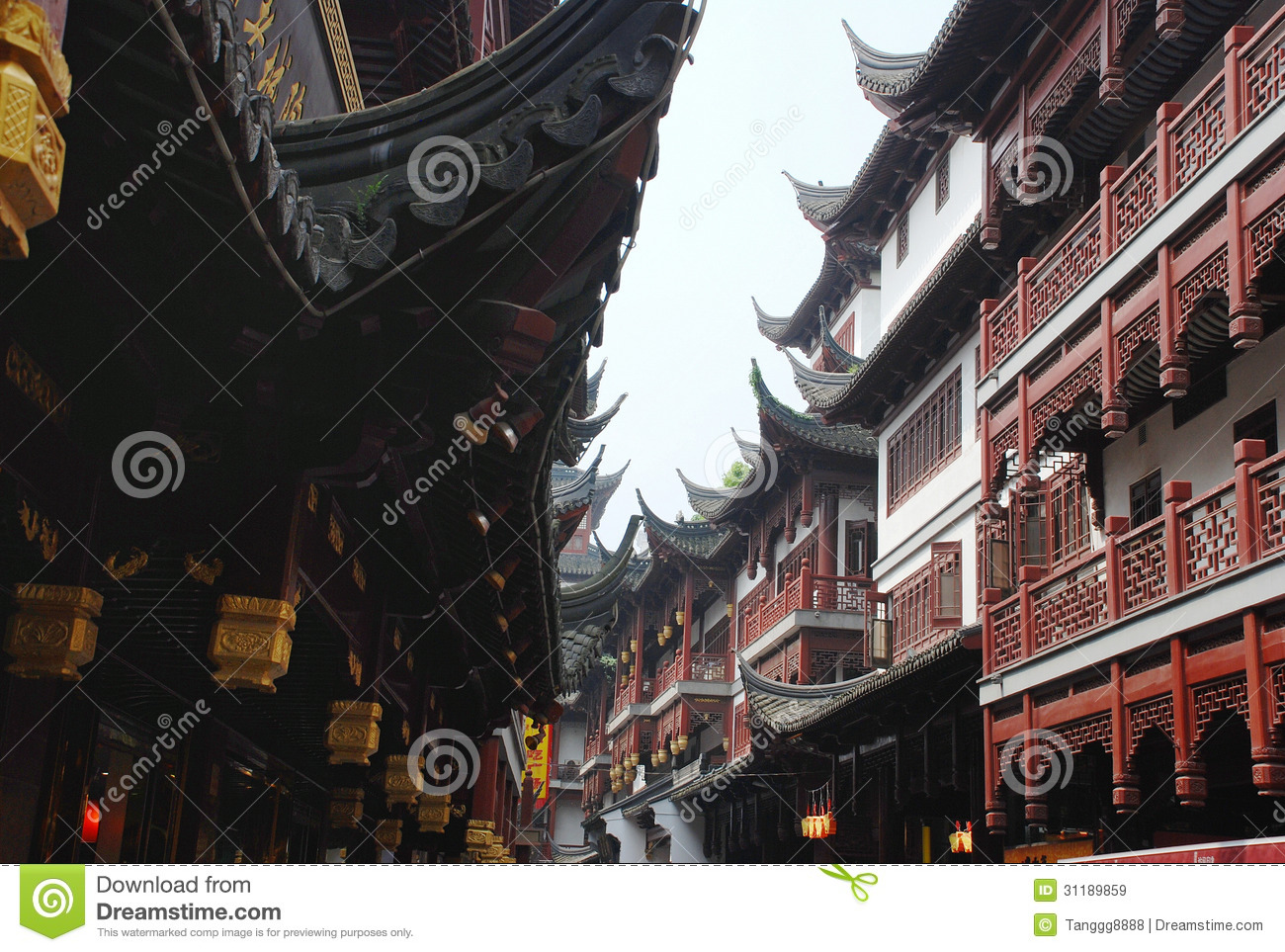Download City God Temple In Shanghai Stock Image - Image of traditional, historic: 31189859