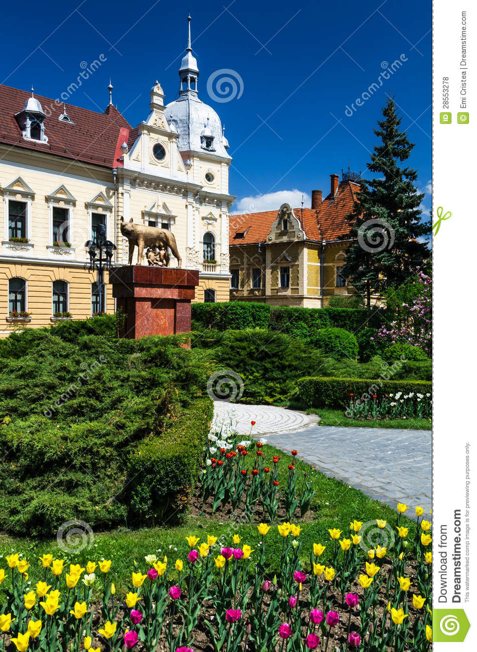 City hall of brasov romania neobaroque architecture royalty free stock photos image 28553278 - Neo romanian architecture traditional and functional house plans ...