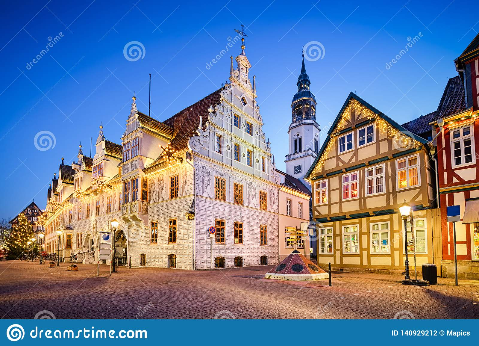Weihnachtsessen Celle.City Hall Of Celle Germany Stock Photo Image Of Weihnachten