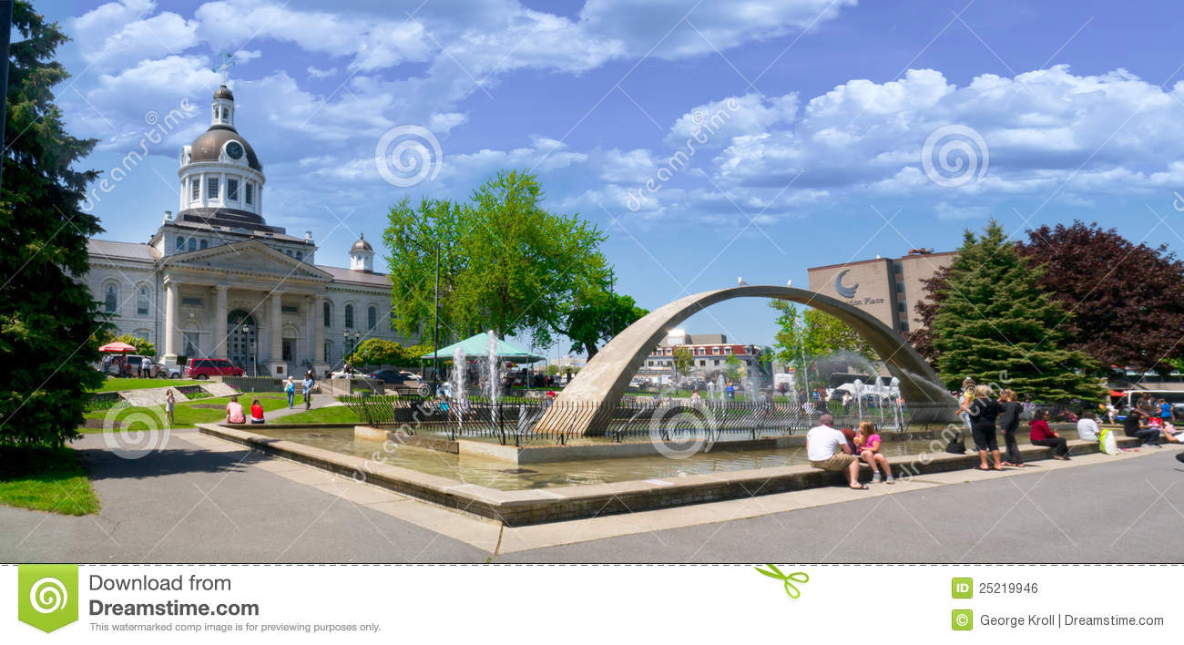 City Hall In Downtown Kingston, Ontario,Canada Editorial Photo - Image ...