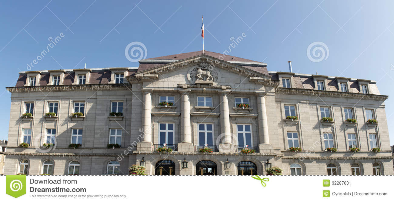 City Hall Of Gueret Stock Image  Image 32287631