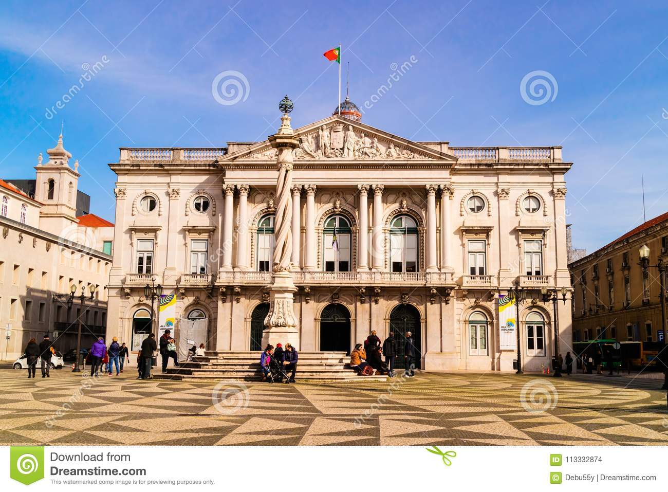 The City Hall Of Lisbon Portugal Editorial Stock Image Image Of City Concelho 113332874