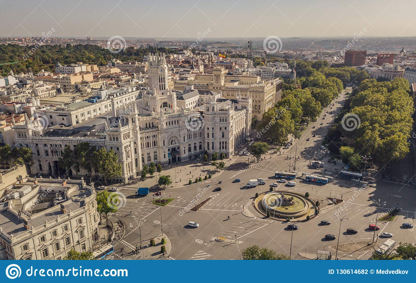 City Hall Of Madrid And Plaza De Cibeles Stock Photo Image