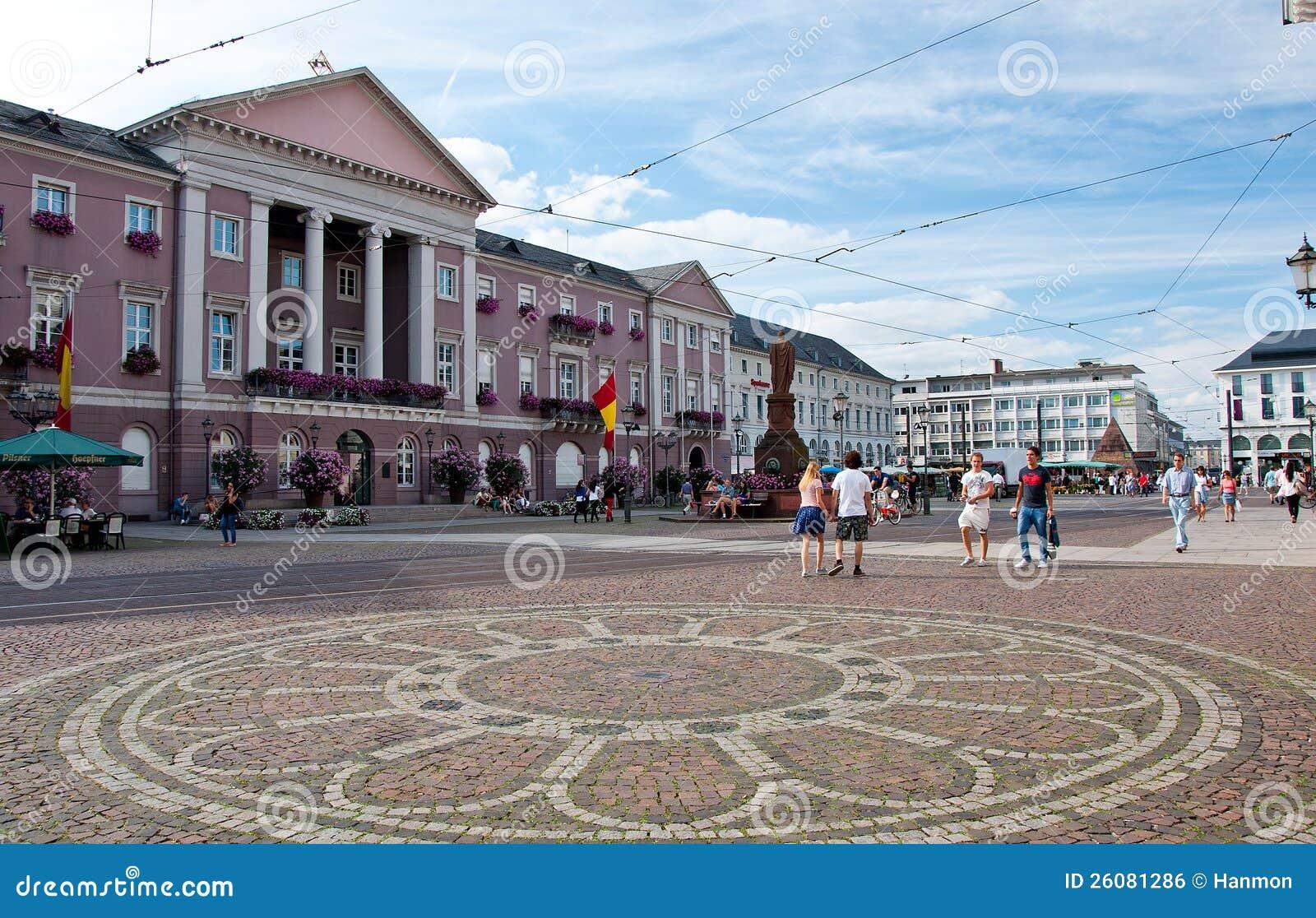 Karlsruhe Germany  city photo : City Hall And Marktplatz, Karlsruhe, Germany Editorial Photo Image ...